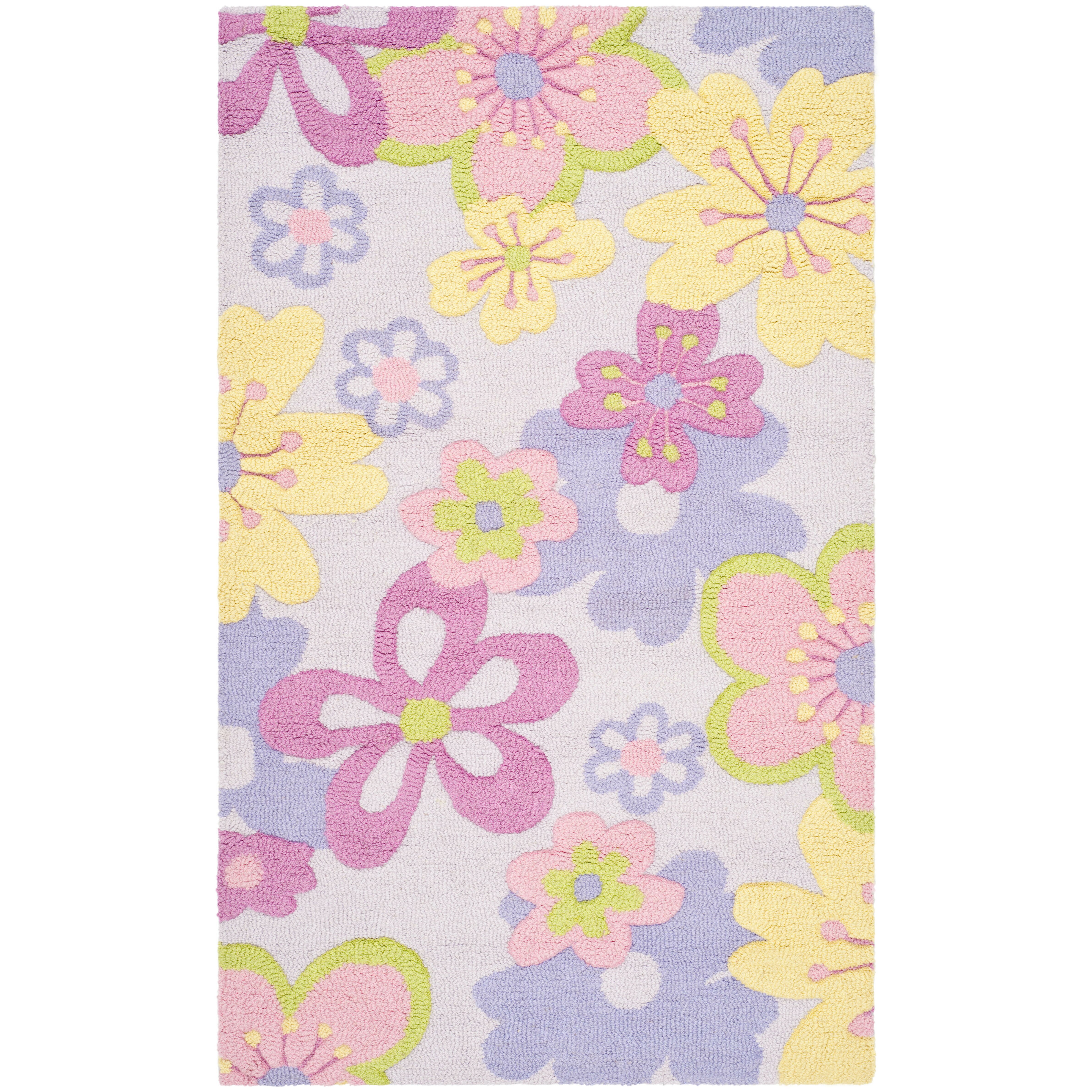 Purple And Lavender Rug: Wade Logan Haas Hand-Tufted Pink/Purple Area Rug & Reviews