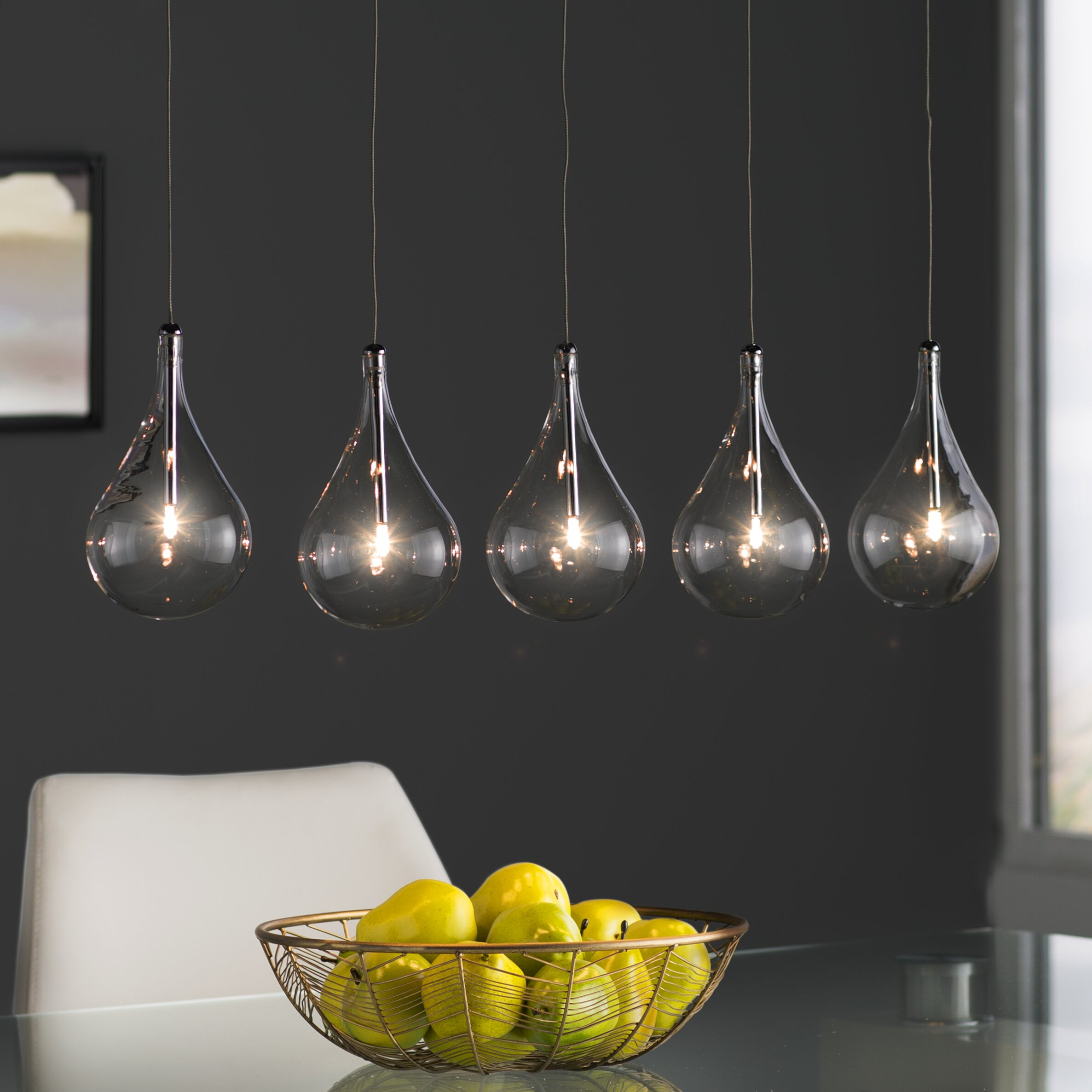 Kitchen Island Lantern Pendants: Wade Logan Neal 5 Light Kitchen Island Pendant & Reviews