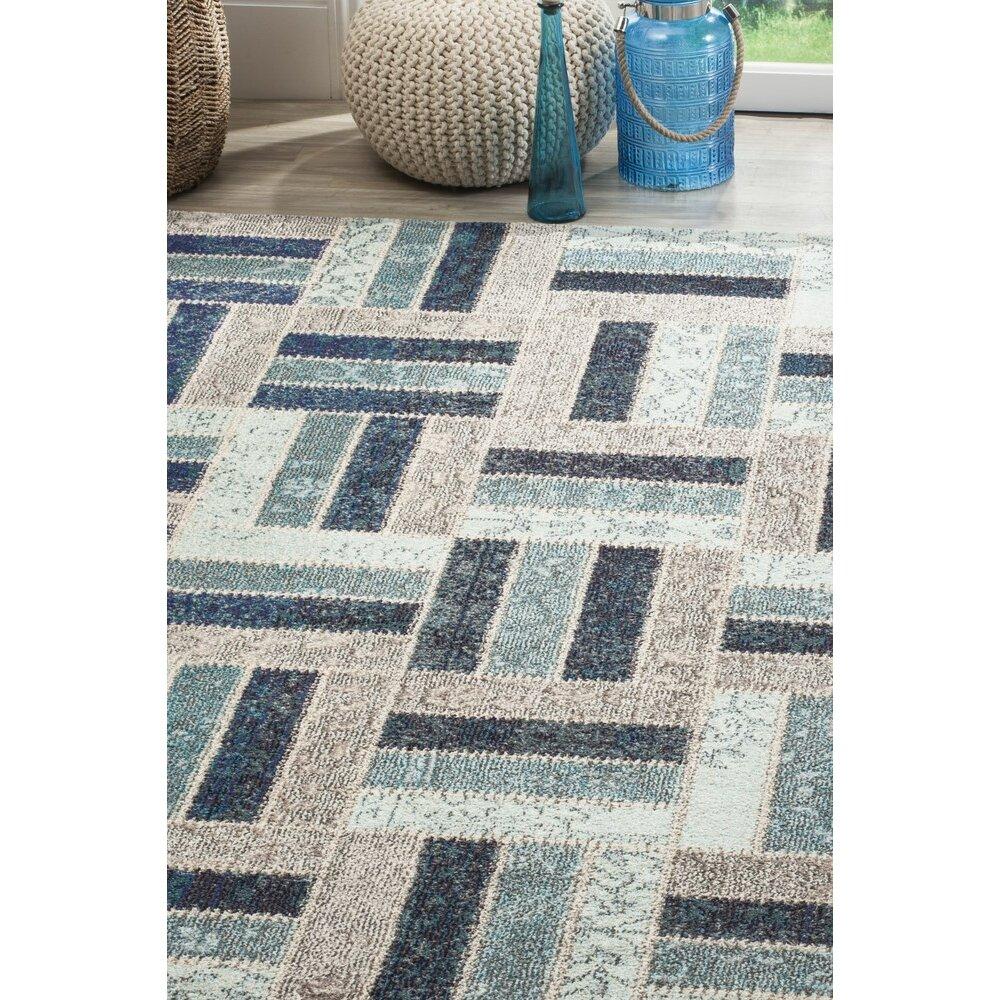 wade logan mercado gray blue area rug reviews wayfair. Black Bedroom Furniture Sets. Home Design Ideas