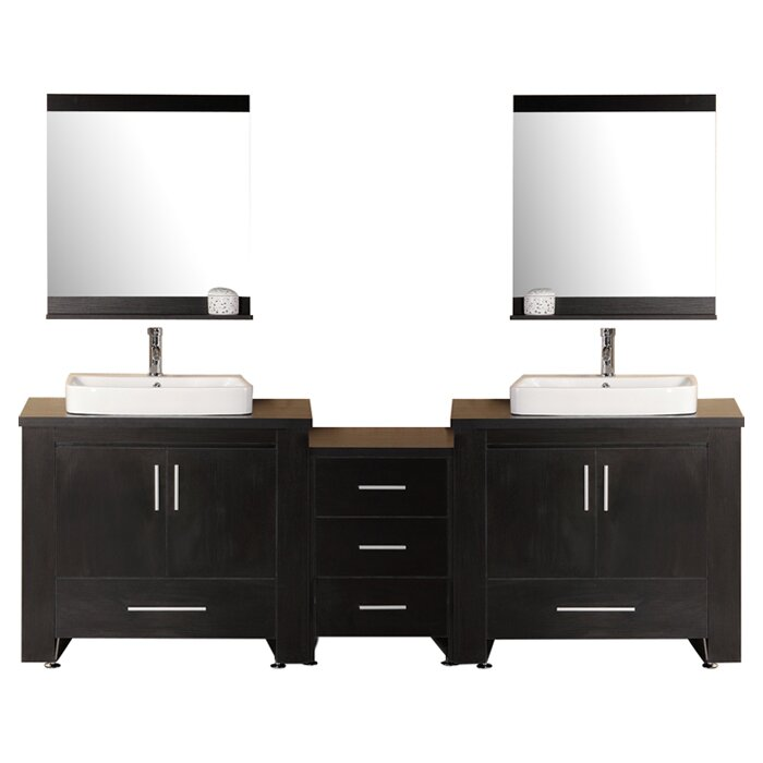 wade logan parsons 96 quot bathroom vanity set with