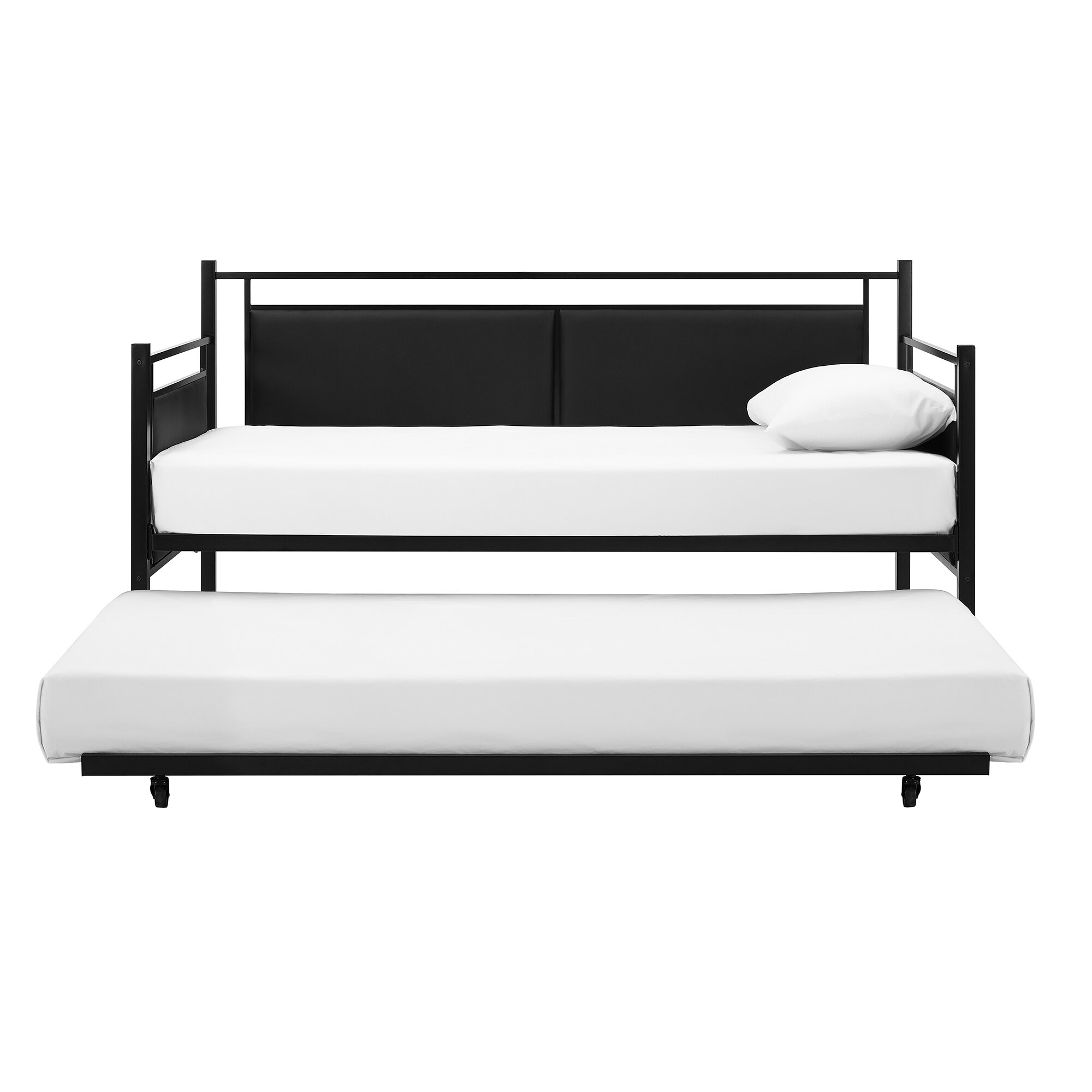 Wade Logan Petaluma Metal And Upholstered Daybed With