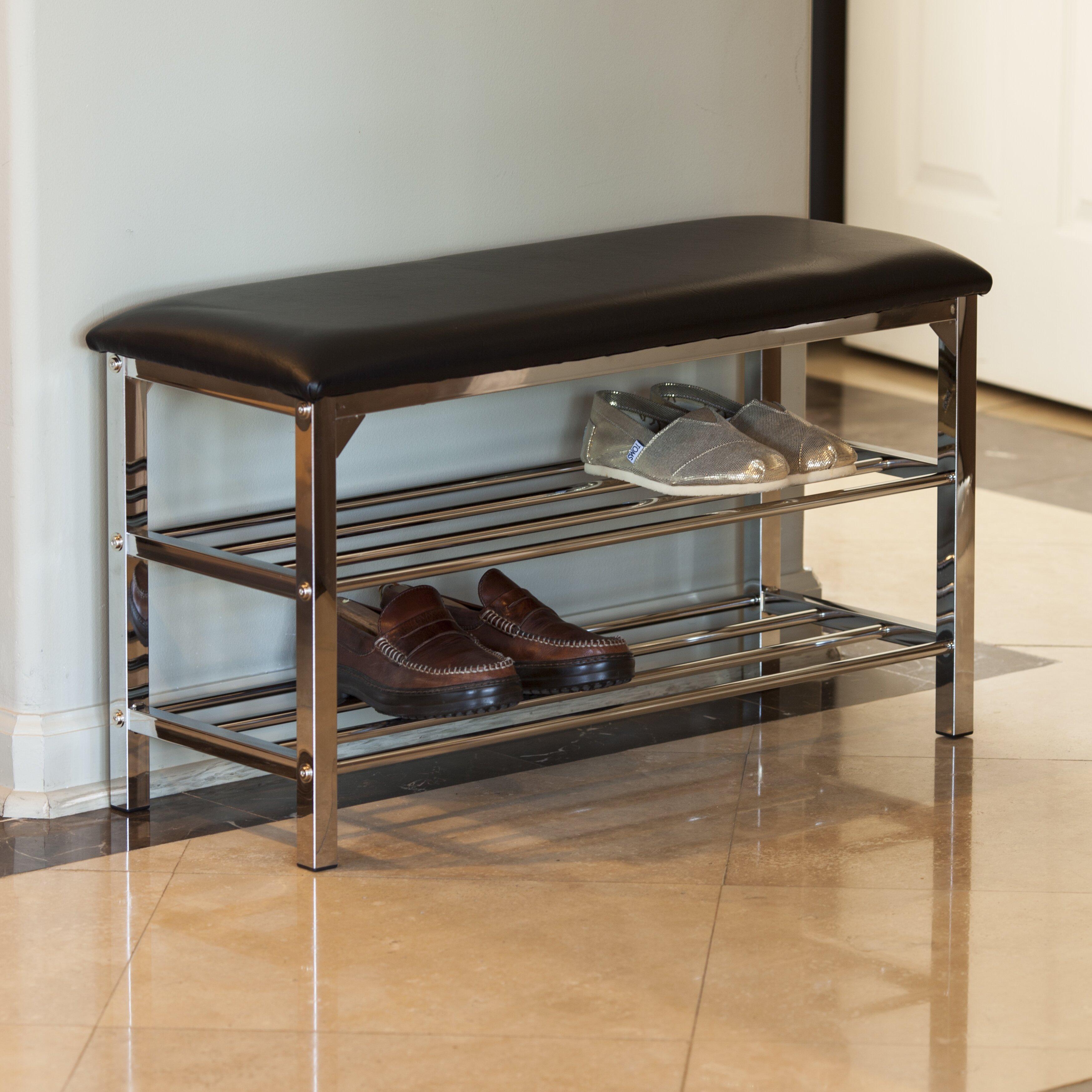 Wade Logan Stellarton Upholstered Storage Entryway Bench Reviews Wayfair