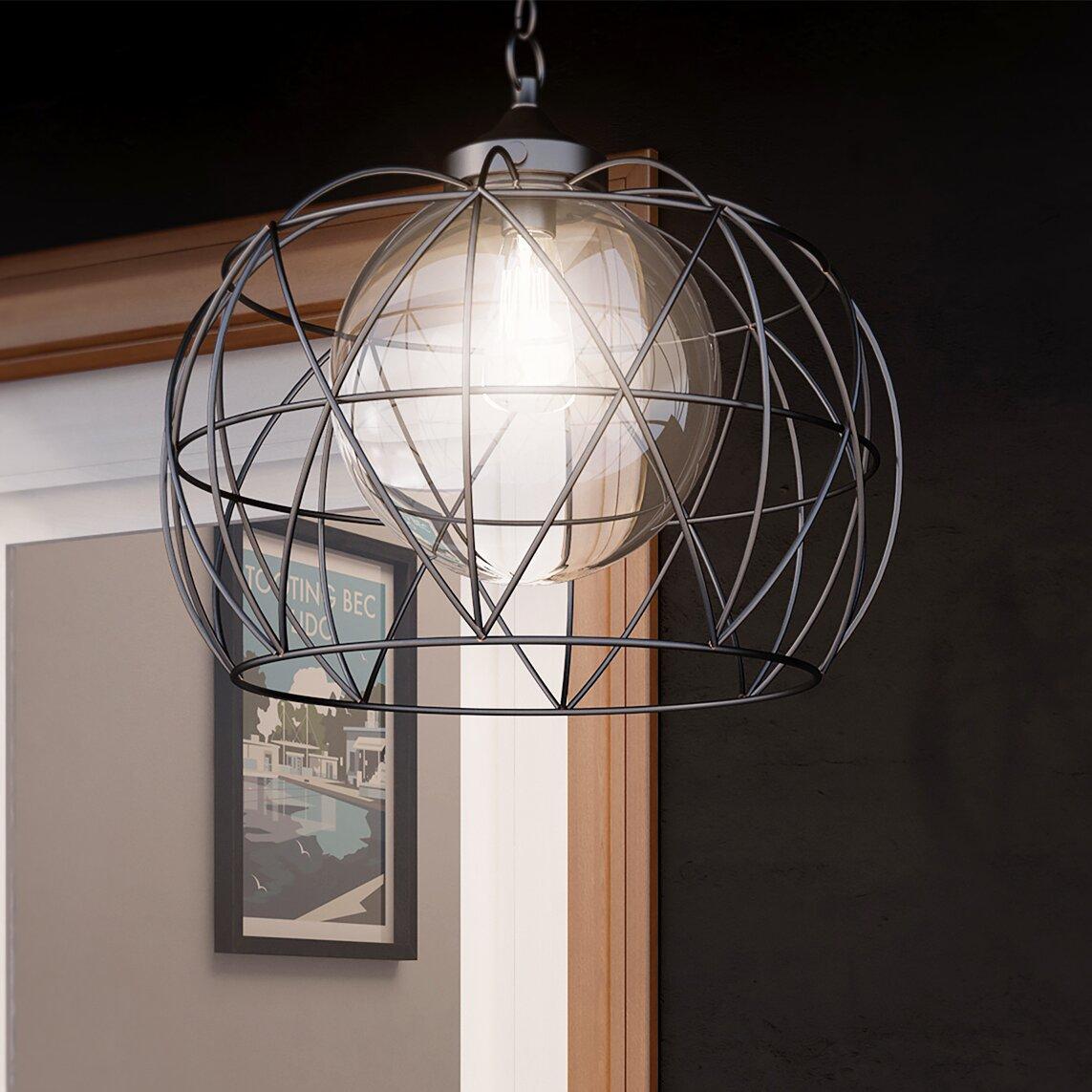 Wayfair Outdoor Hanging Lights: Wade Logan Deven 1 Light Outdoor Pendant