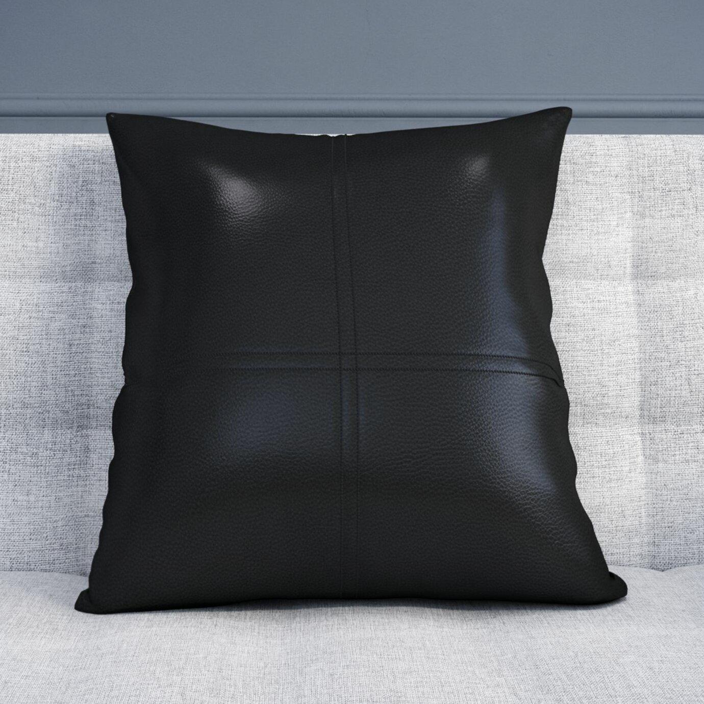 Wade Logan Faux Leather Throw Pillow & Reviews Wayfair