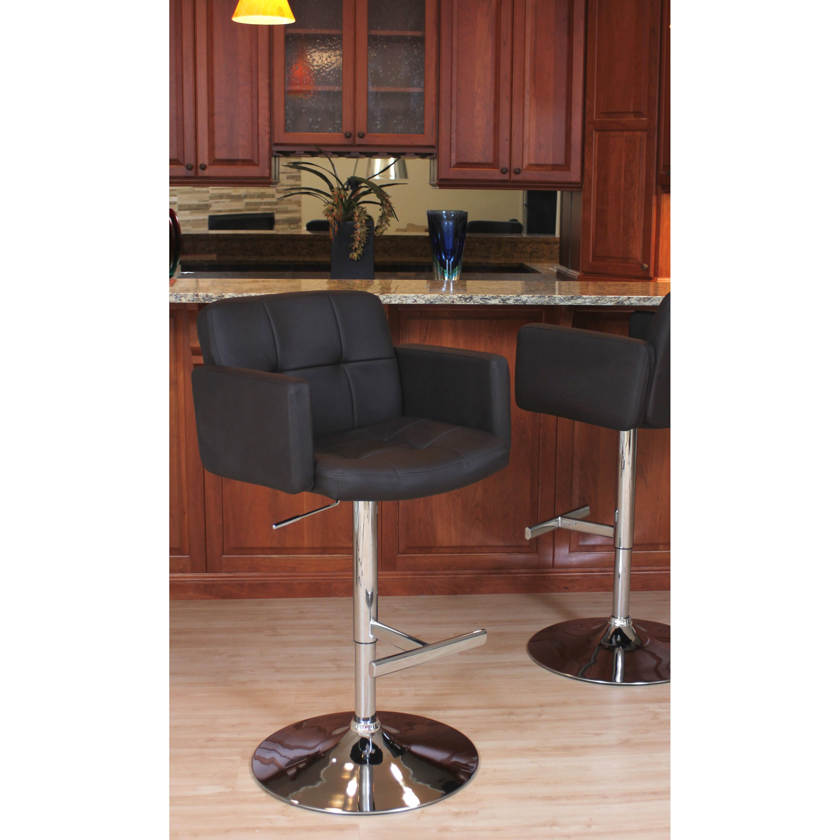 Wade Logan Limpley Stoke Adjustable Height Swivel Bar