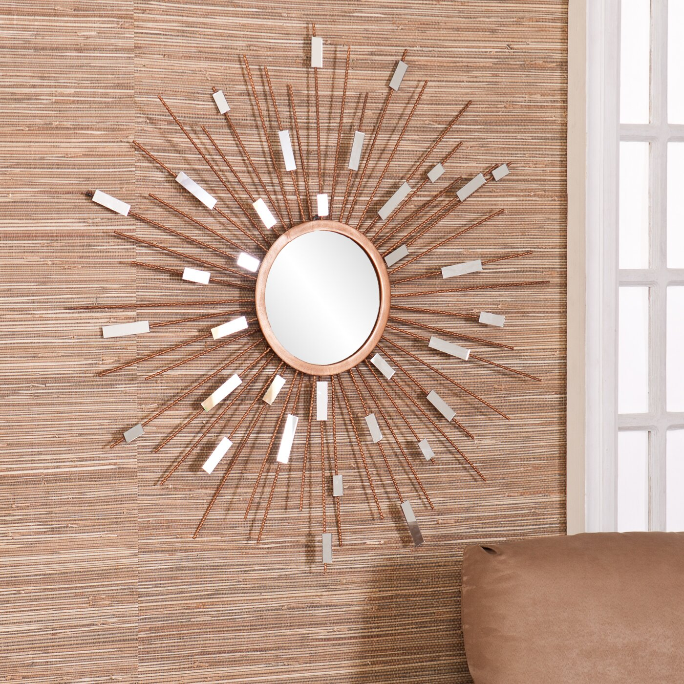 Starburst Wall Decor Mirror: Corrigan Studio Starburst Wall Mirror & Reviews