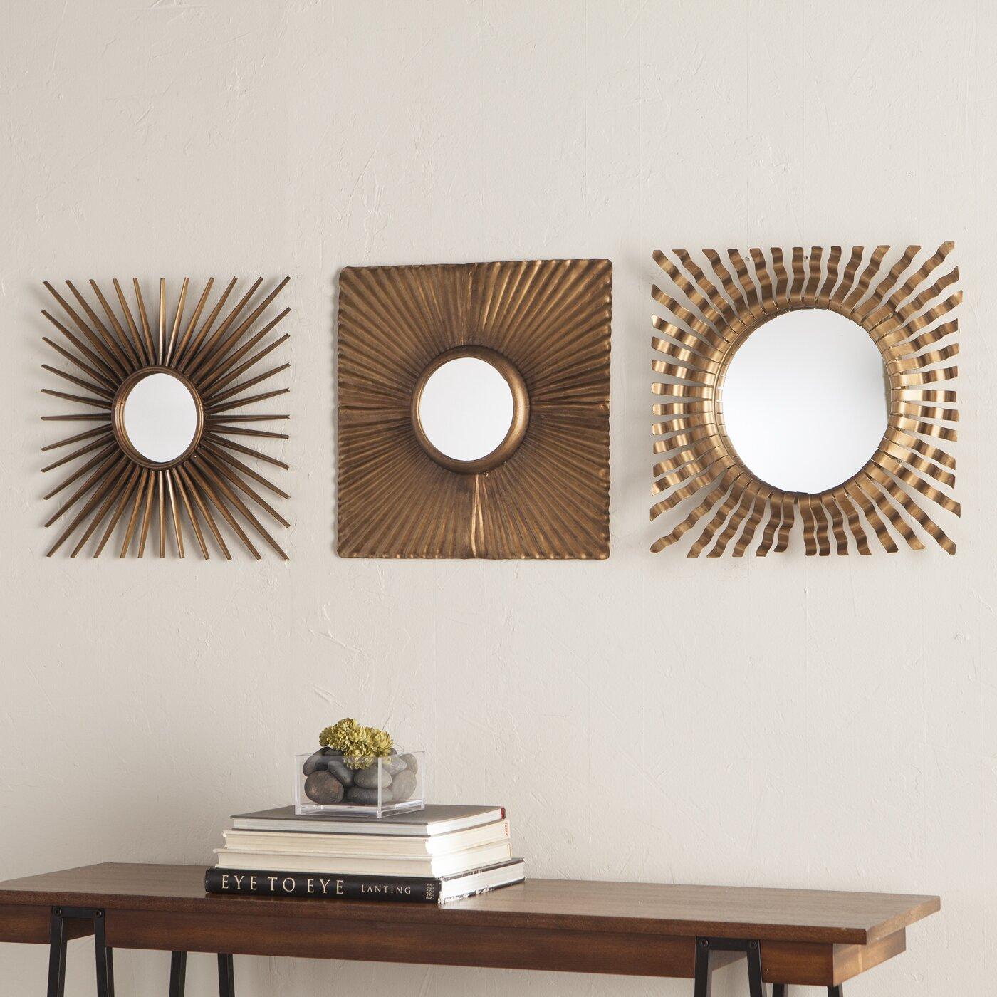 Corrigan Studio 3 Piece Decorative Mirror Set & Reviews ...
