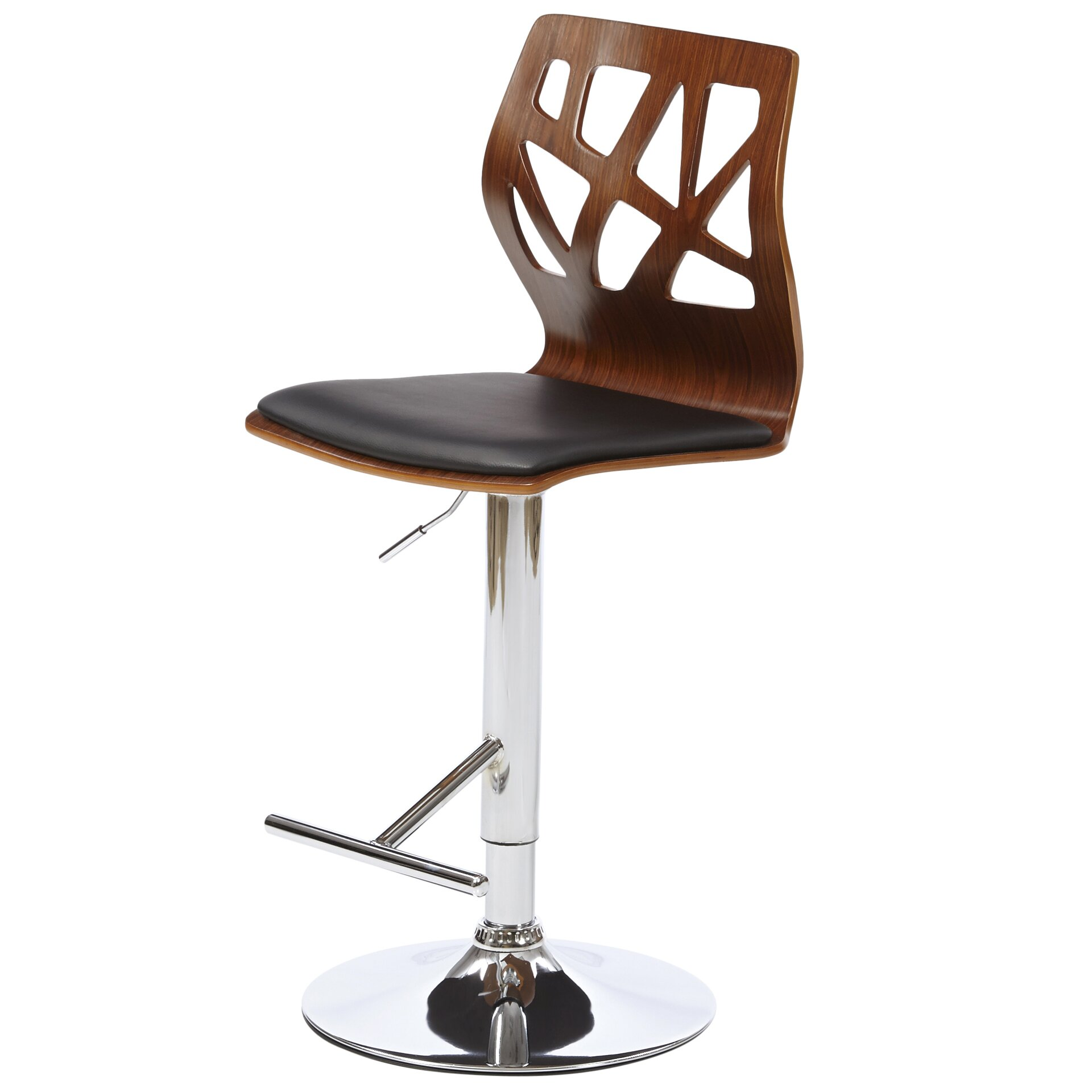 Langley Street Figuaro Adjustable Height Swivel Bar Stool