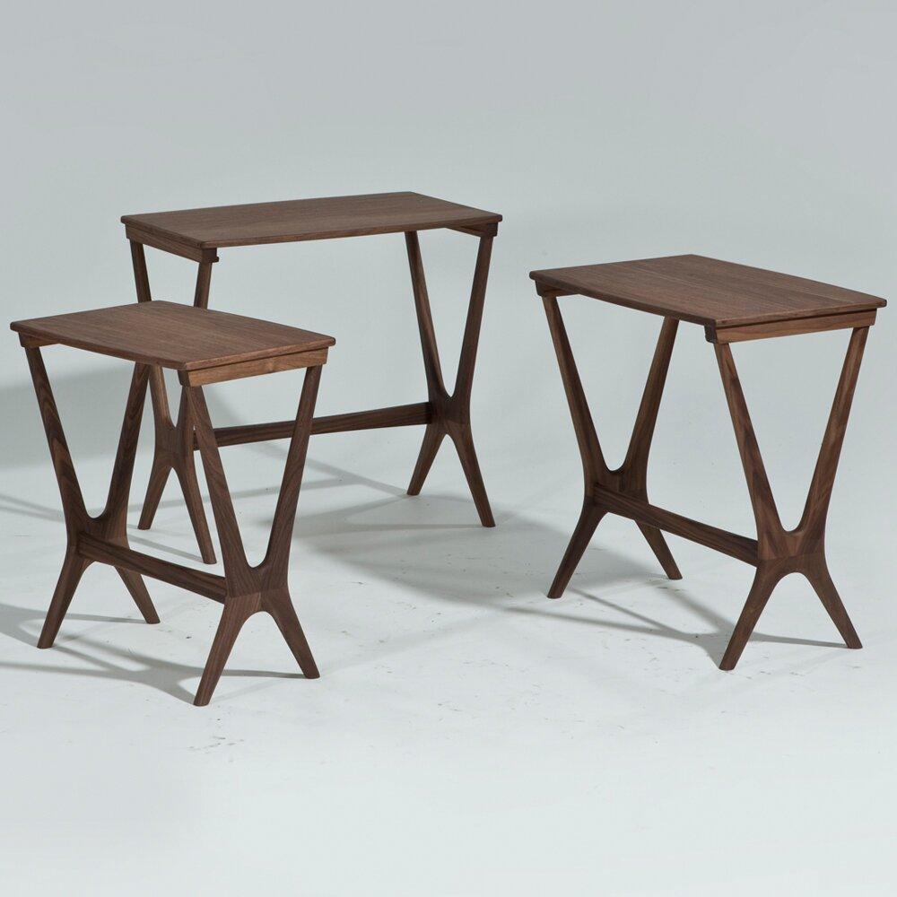 Langley Street Laurel 3 Piece Nesting Table Set Amp Reviews