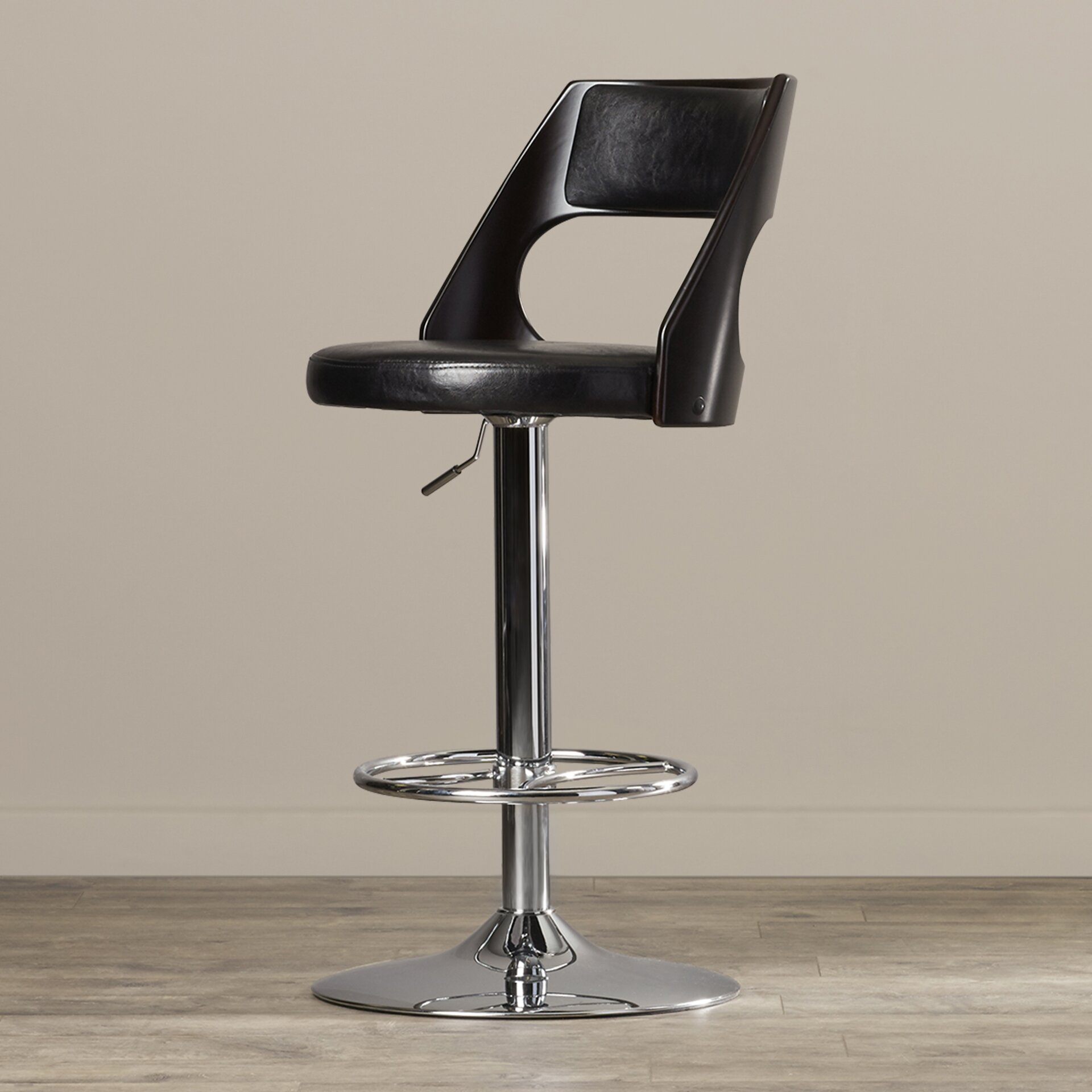 Langley Street Conejara Adjustable Height Swivel Bar Stool