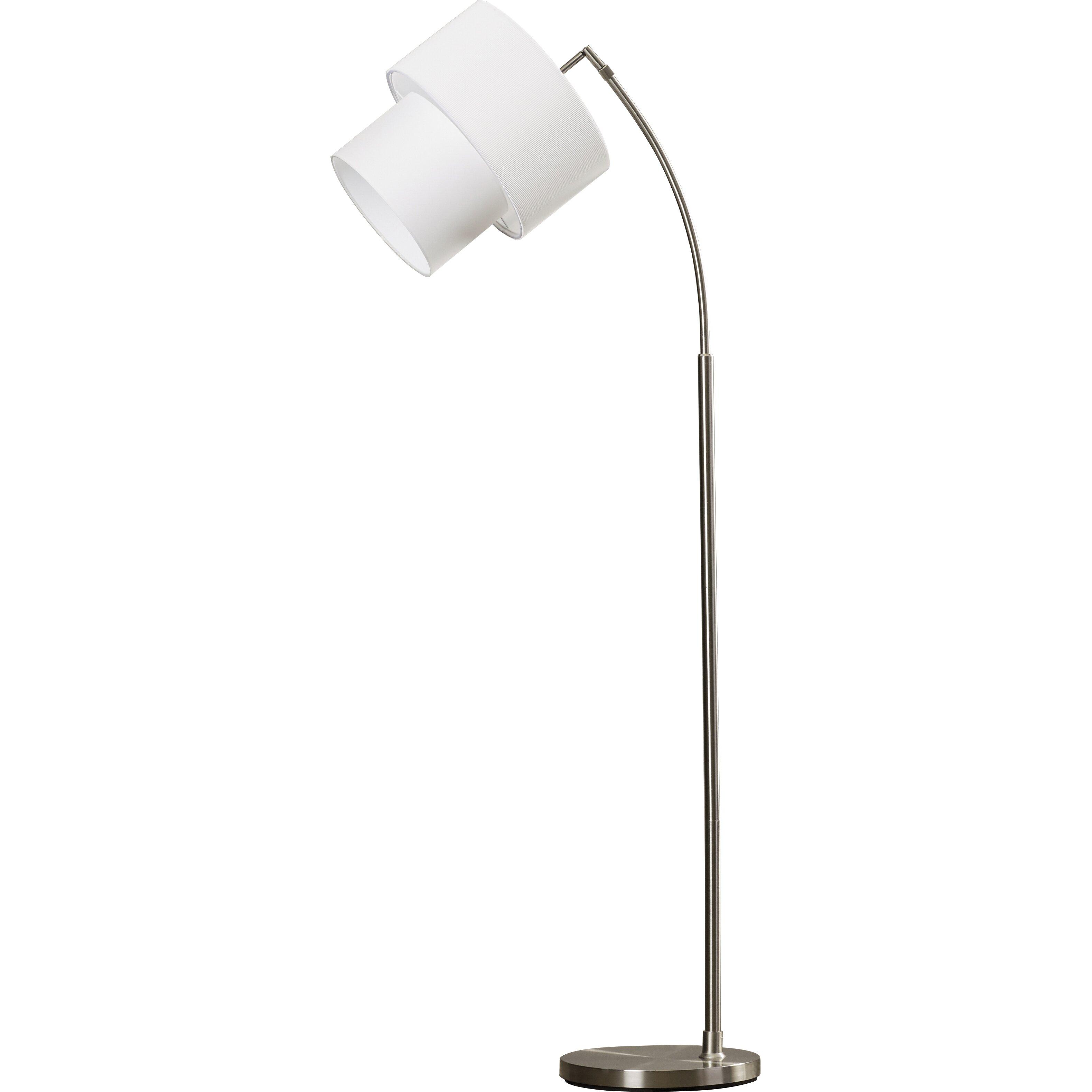 langley street duneany 71 arched floor lamp reviews wayfair. Black Bedroom Furniture Sets. Home Design Ideas