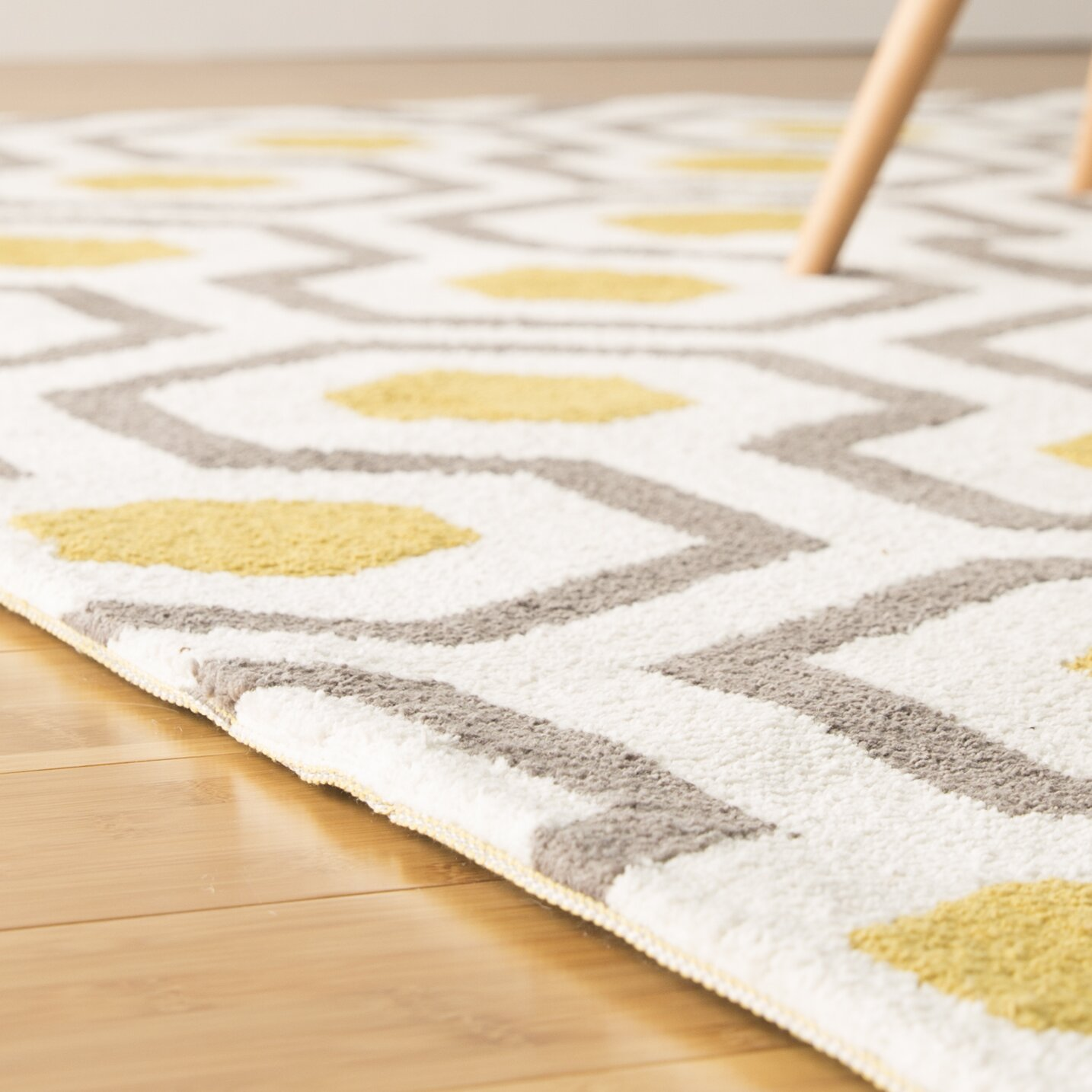 langley street noam hand tufted beige gray yellow area rug reviews wayfair. Black Bedroom Furniture Sets. Home Design Ideas