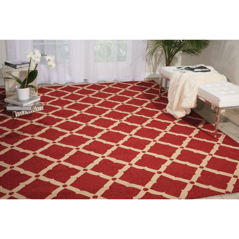 Langley Street Isla Red Indoor Outdoor Area Rug & Reviews