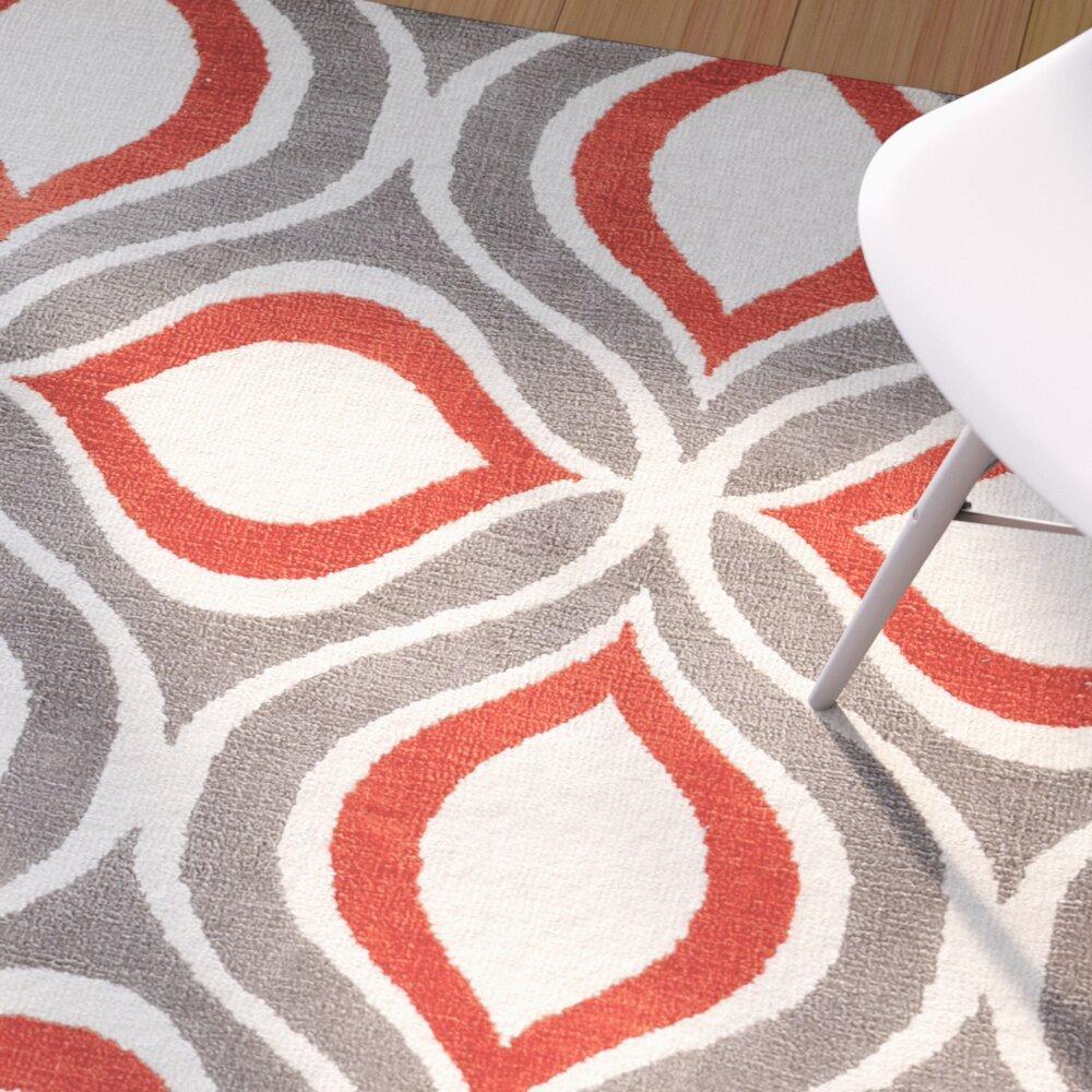 langley street noam hand tufted beige gray red area rug reviews wayfair. Black Bedroom Furniture Sets. Home Design Ideas