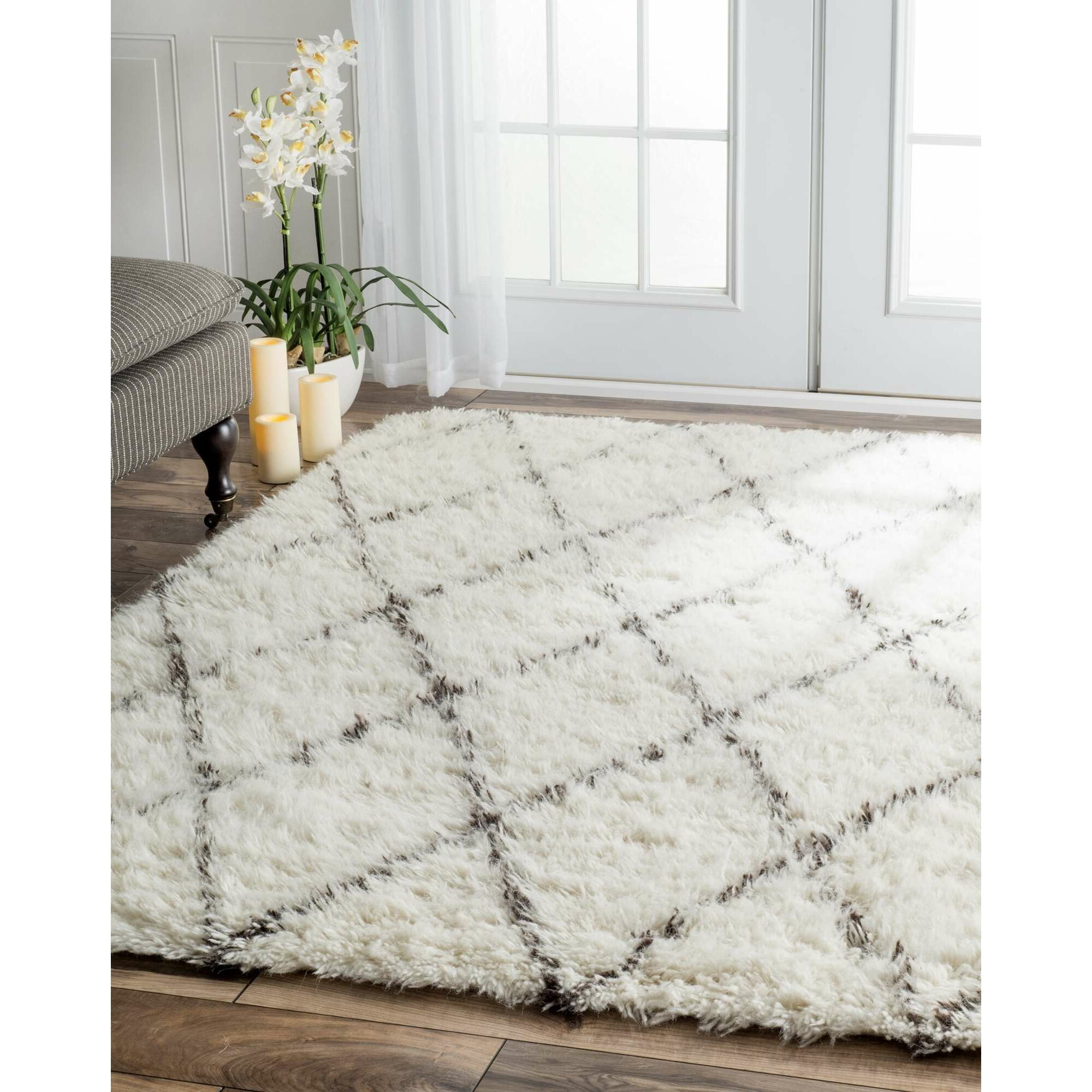 Langley Street West Hand-woven Moroccan Shag Ivory Area