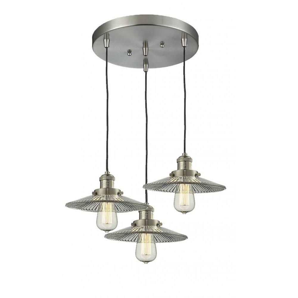 Innovations Lighting Holophone Glass 3 Light Pendant