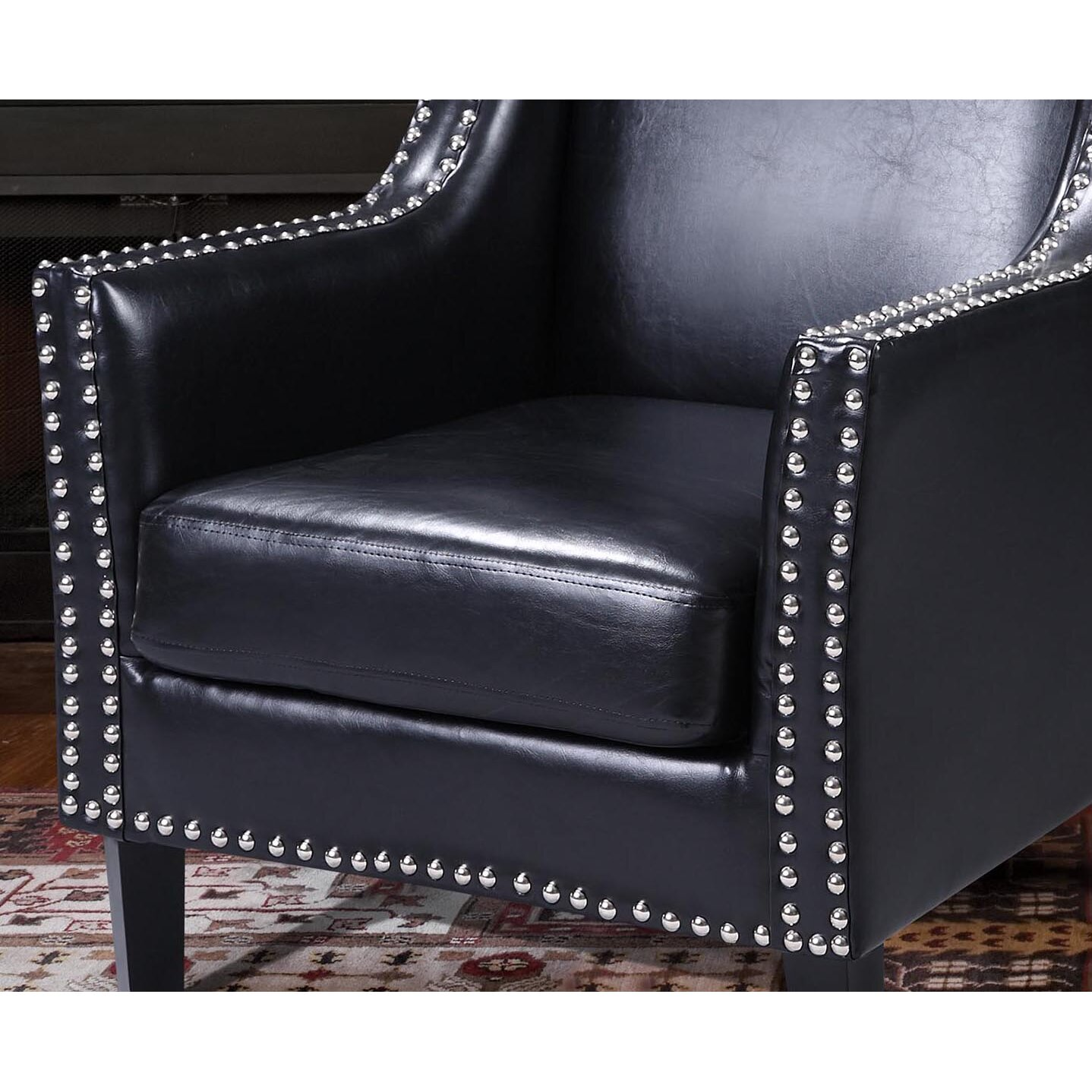 BestMasterFurniture Faux Leather Arm Chair & Reviews ...