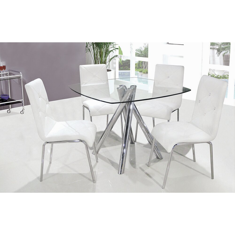 Bestmasterfurniture 5 piece dining set reviews wayfair for White dinette sets