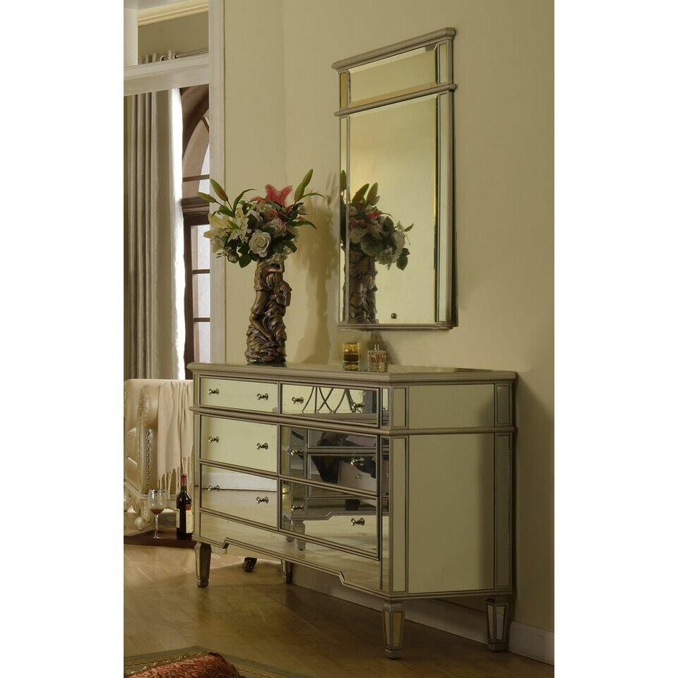 Silver Dresser: BestMasterFurniture 6 Drawer Dresser & Reviews