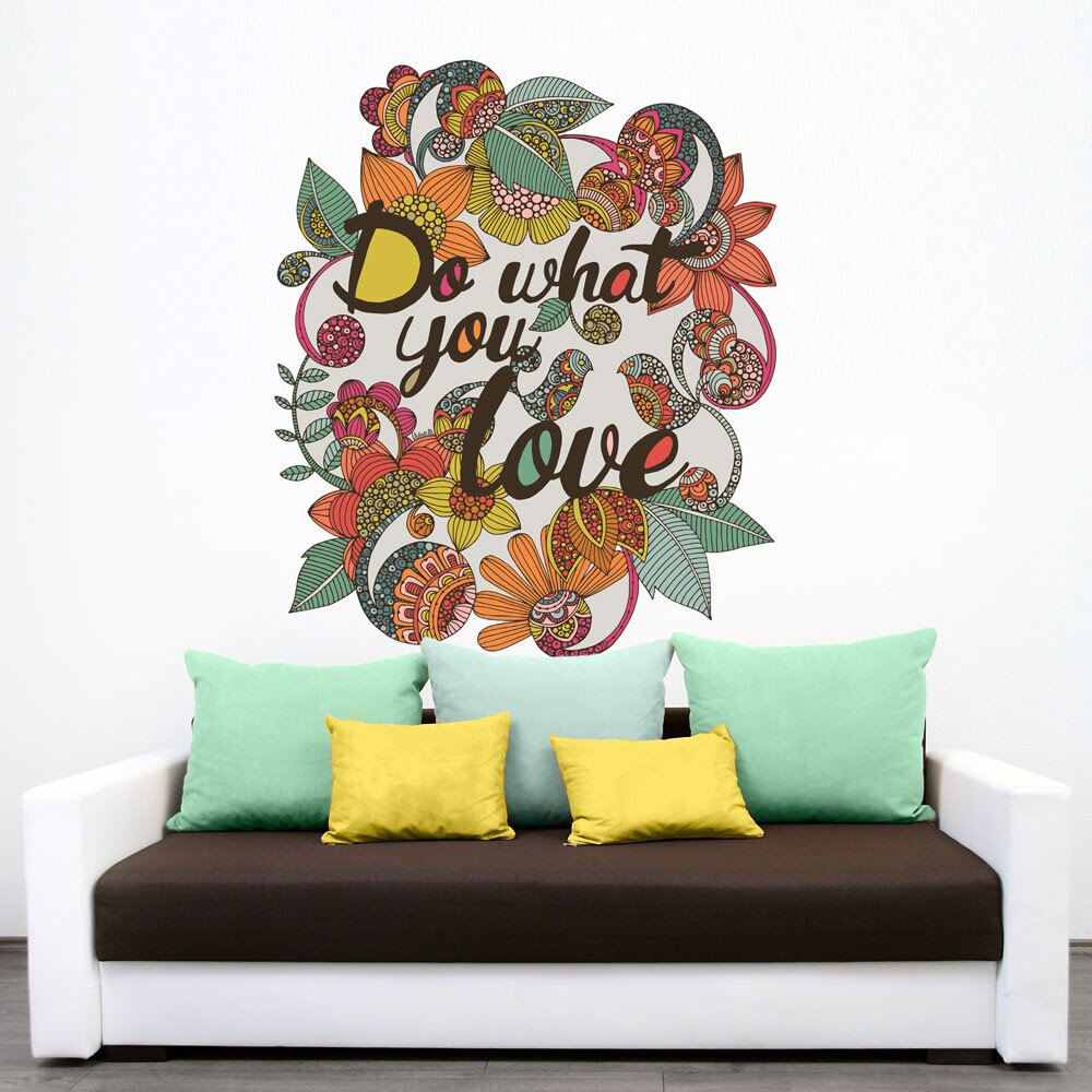 Wall Art Stickers Next Day Delivery : My wonderful walls inspirational quote floral wall decal
