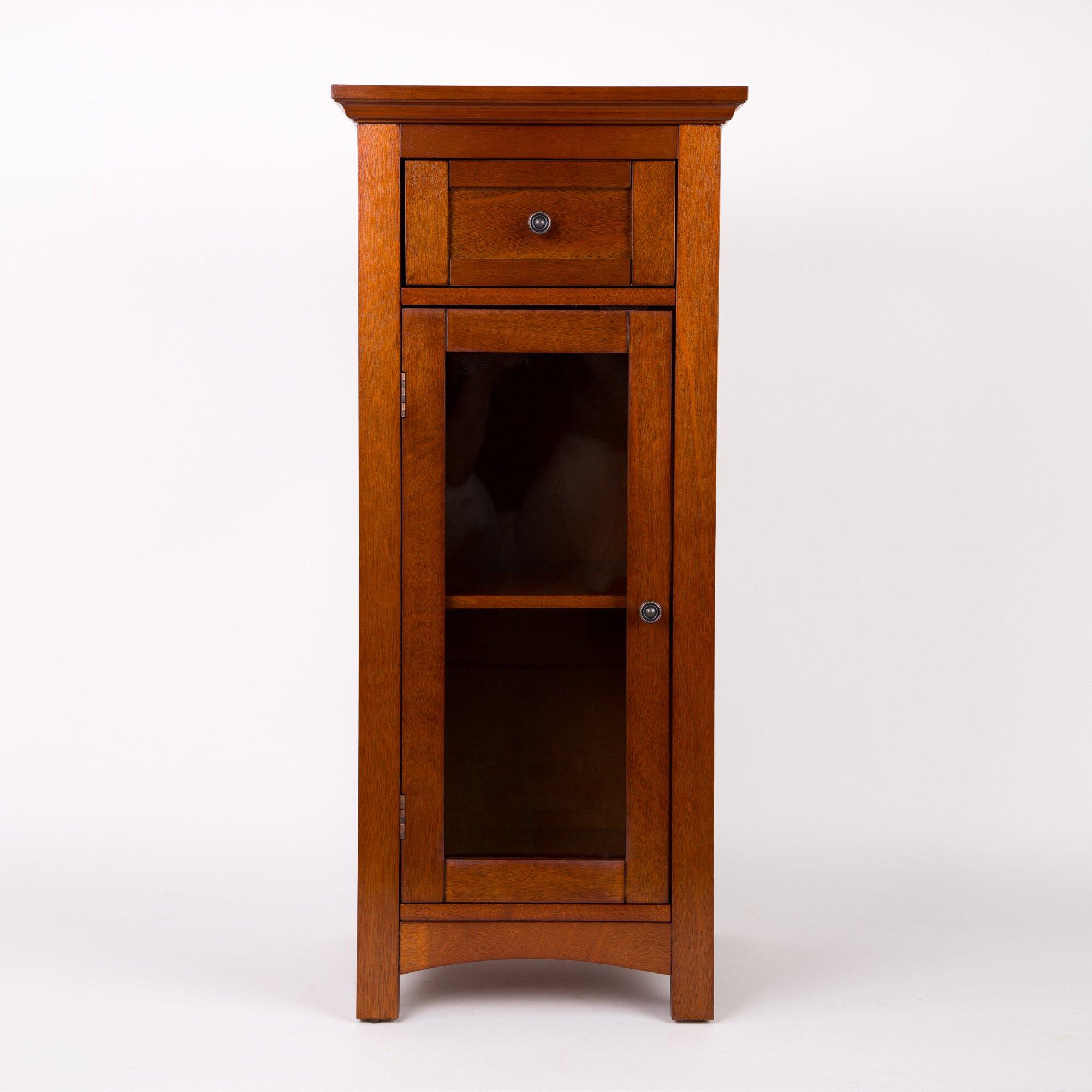 Glitz home wooden floor 1 drawer storage cabinet reviews for Floor storage cabinet