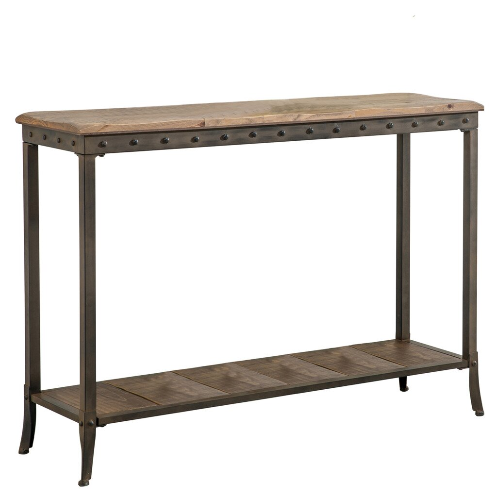 Nspire 2 tier rectangle console table reviews wayfair for Table console