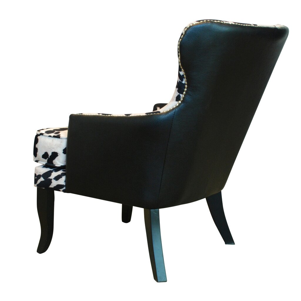 !nspire Faux Cowhide Accent Chair With Stud Detail