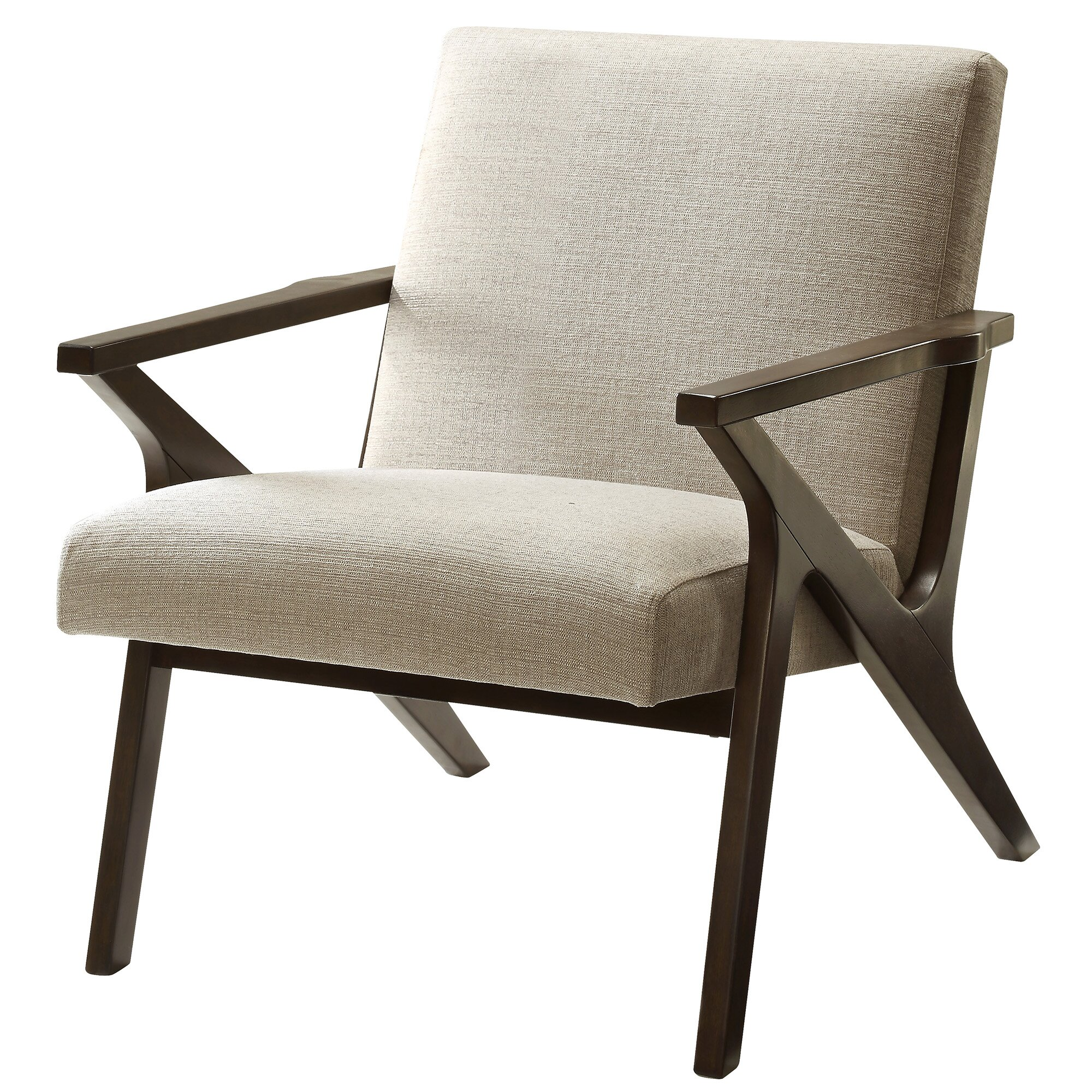 Nspire upholstered accent arm chair reviews wayfair for Contemporary armchair