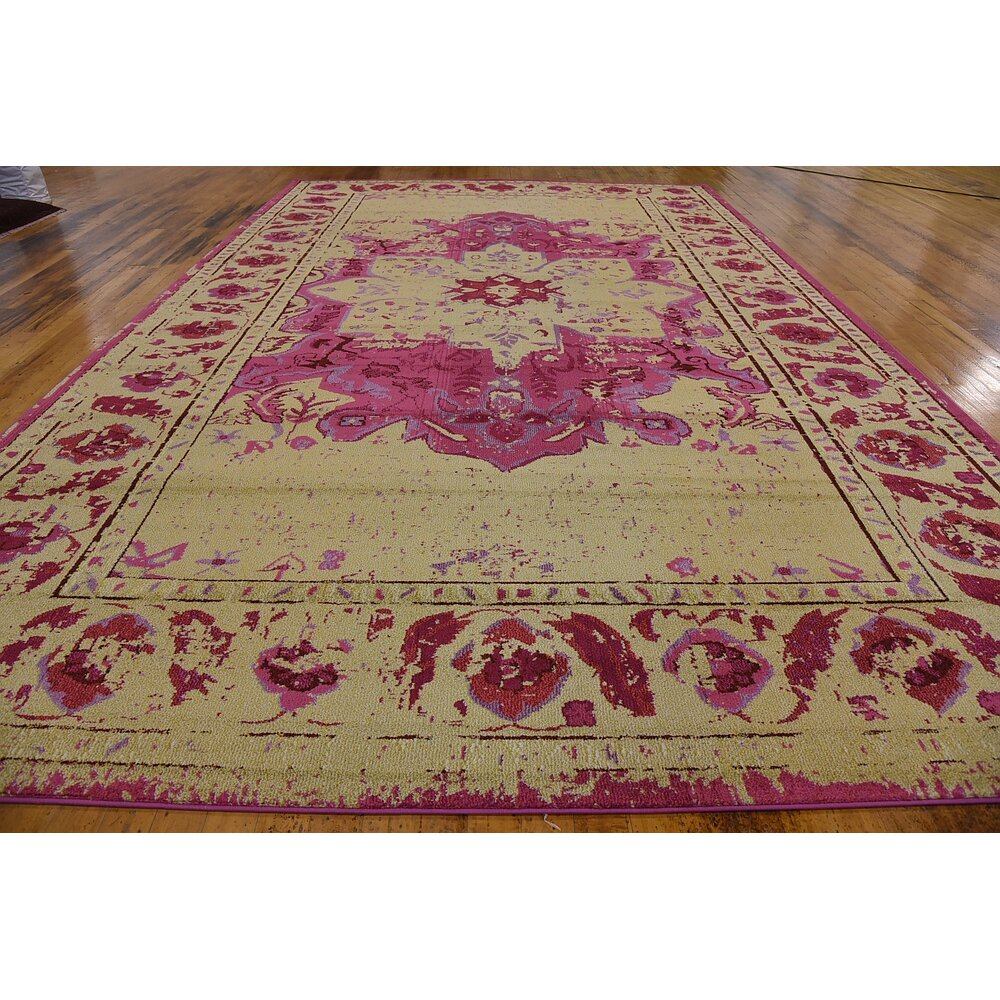 Unique Loom Barcelona Pink Beige Area Rug Reviews Wayfair