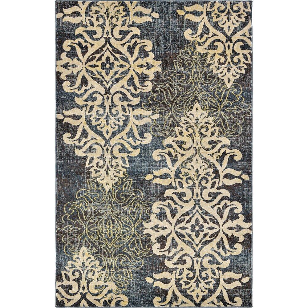 unique loom damask blue area rug reviews wayfair