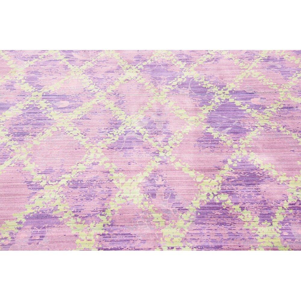 Unique Loom Aria Purple Area Rug Amp Reviews Wayfair