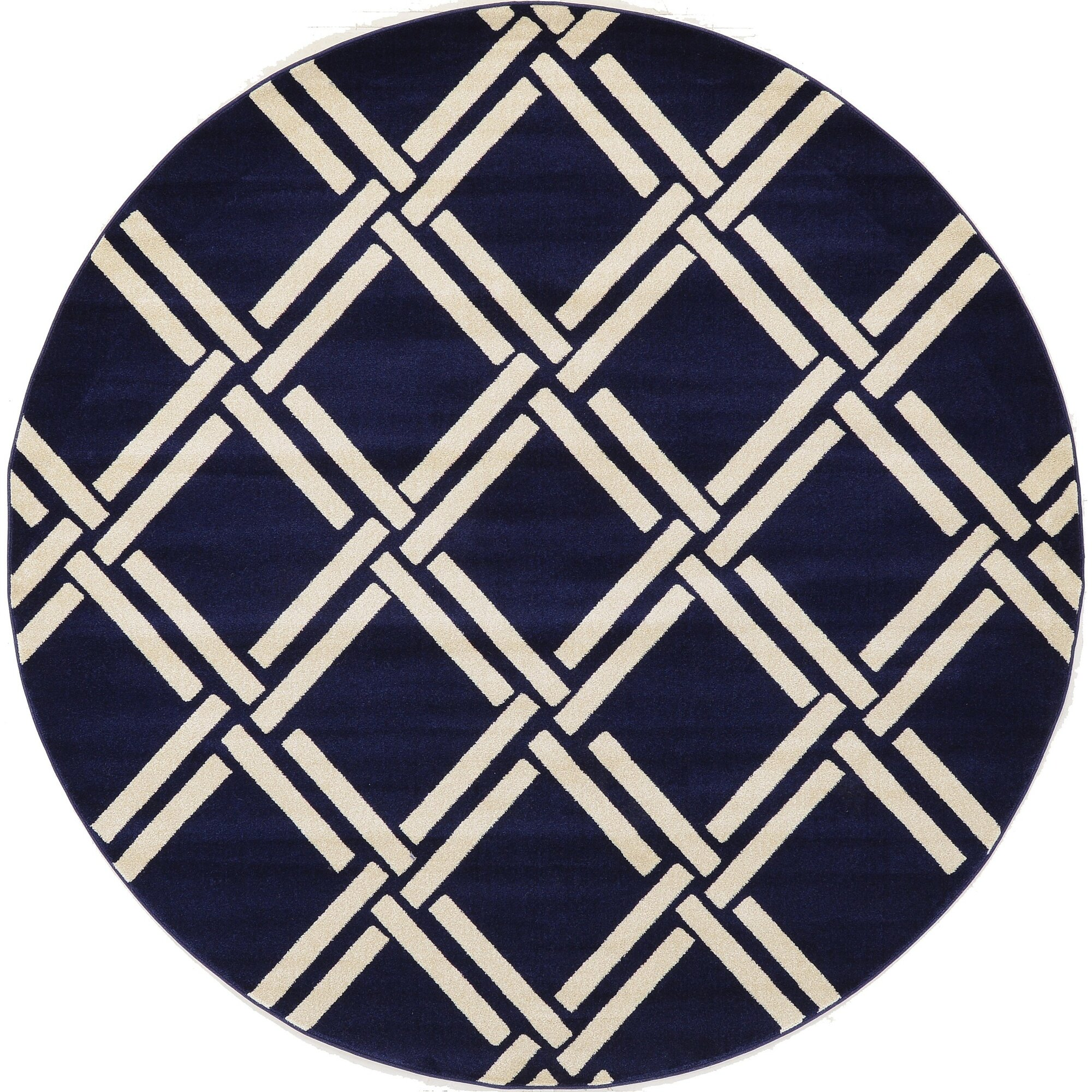 unique loom trellis navy blue area rug reviews wayfair