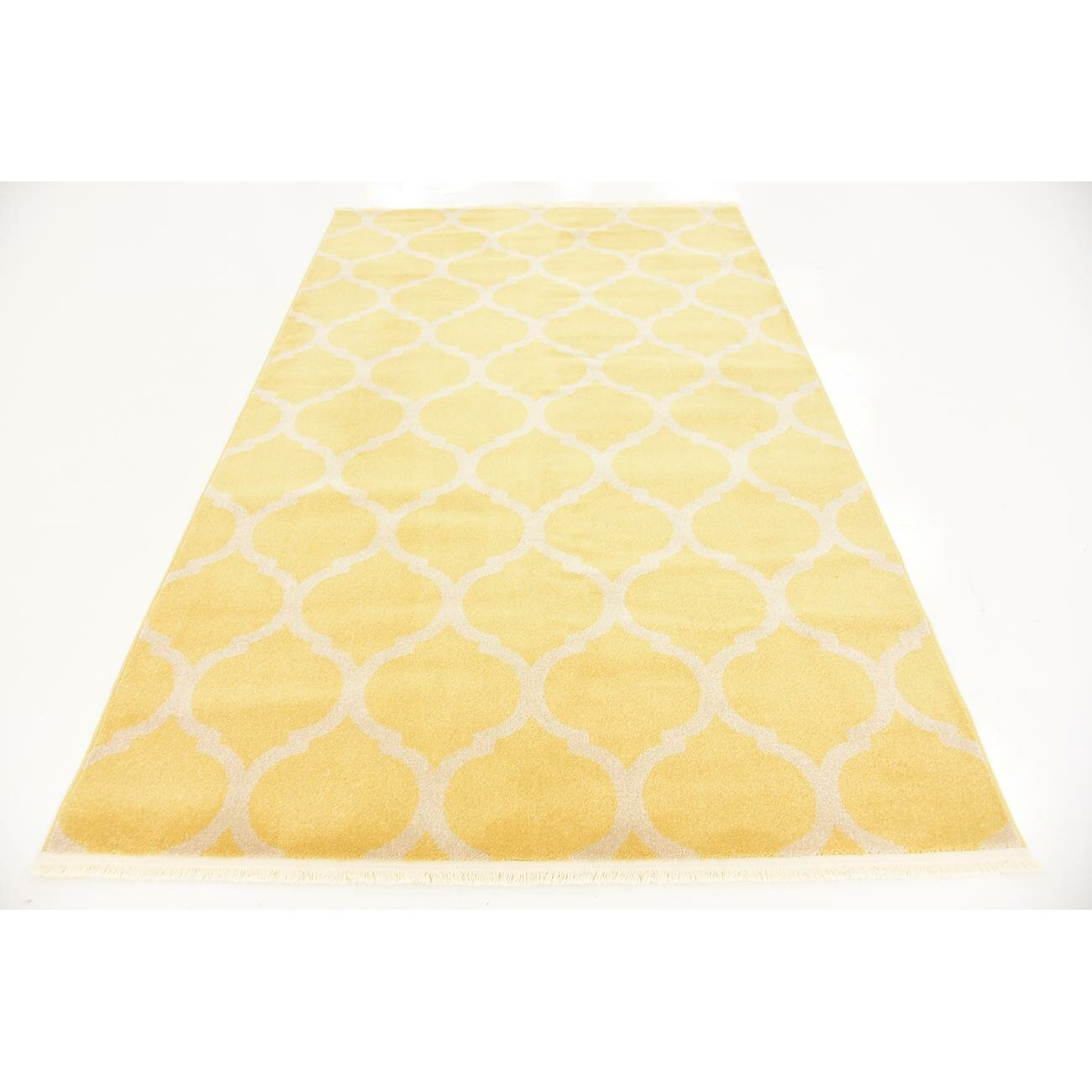 Unique Loom Trellis Yellow Area Rug Reviews Wayfair