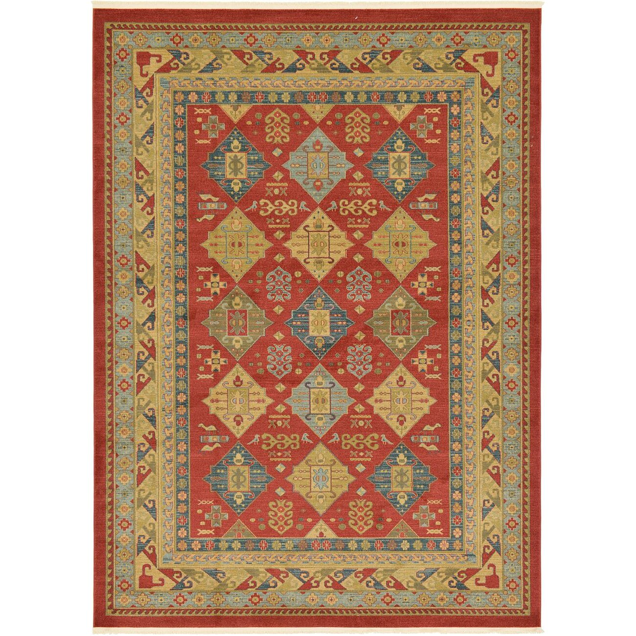 Unique Loom Heriz Red Area Rug Wayfair