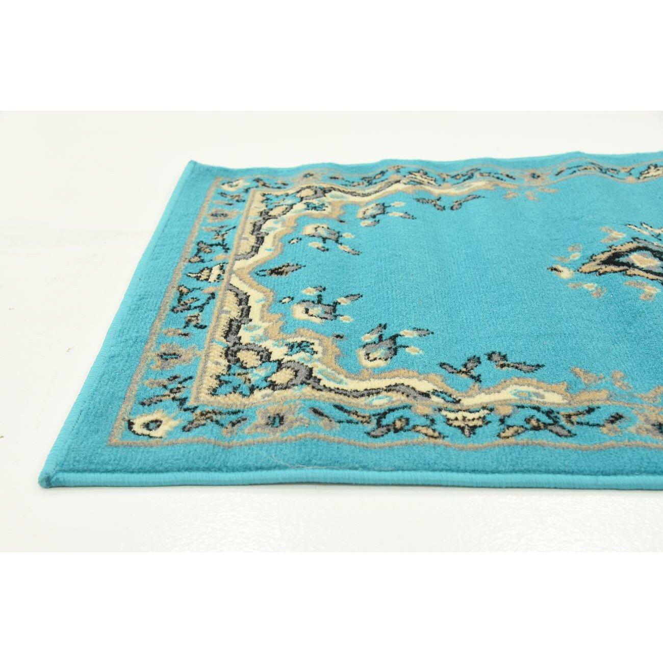 Unique Loom Mashad Turquoise Area Rug Reviews Wayfair