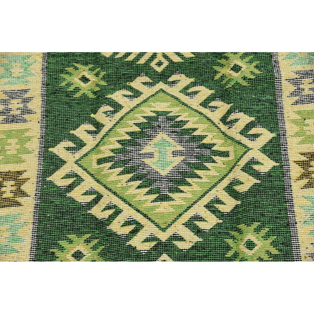 Unique Loom Kilim Dhurrie Green Area Rug