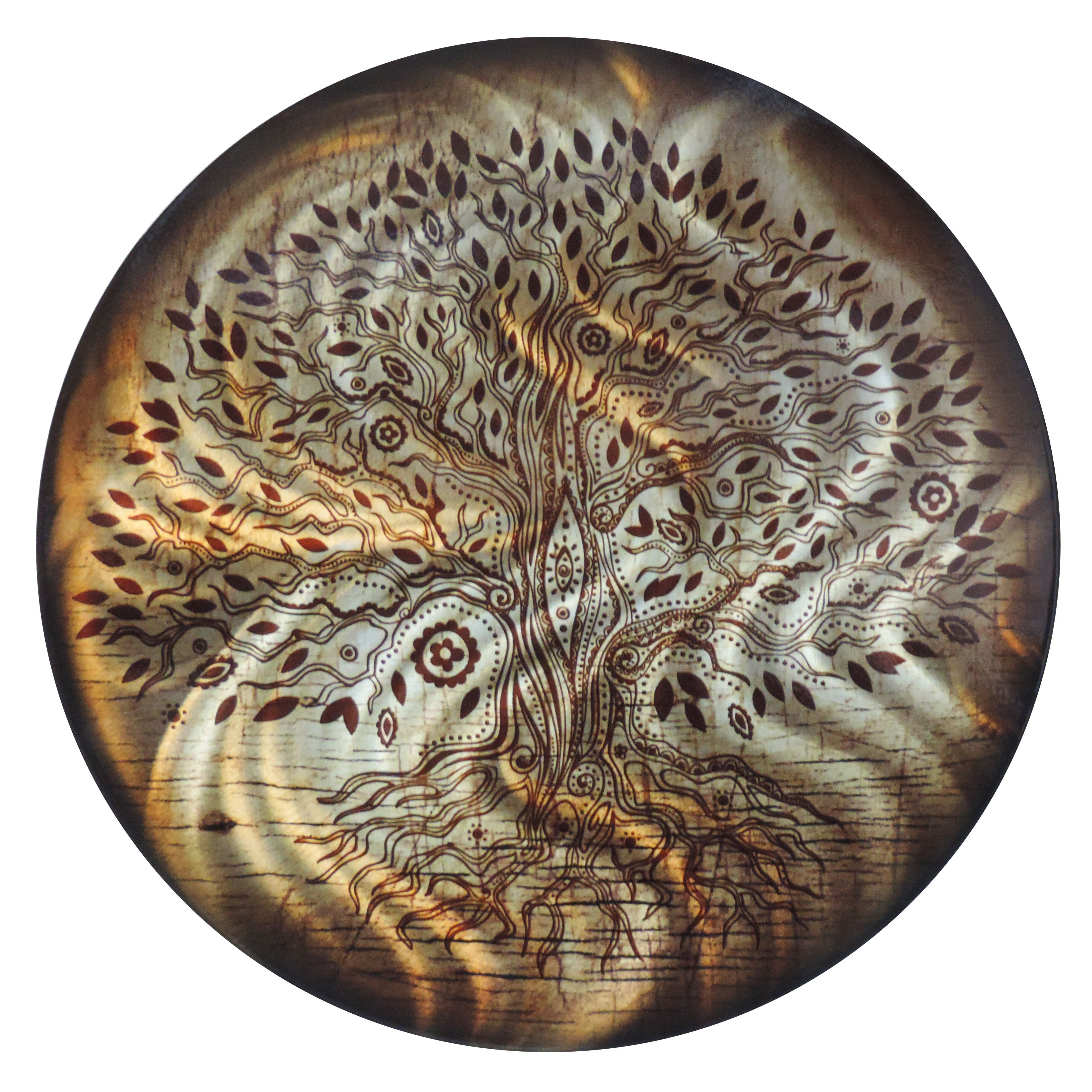 Next Innovations Round Tree of Life Metal Wall Décor ...