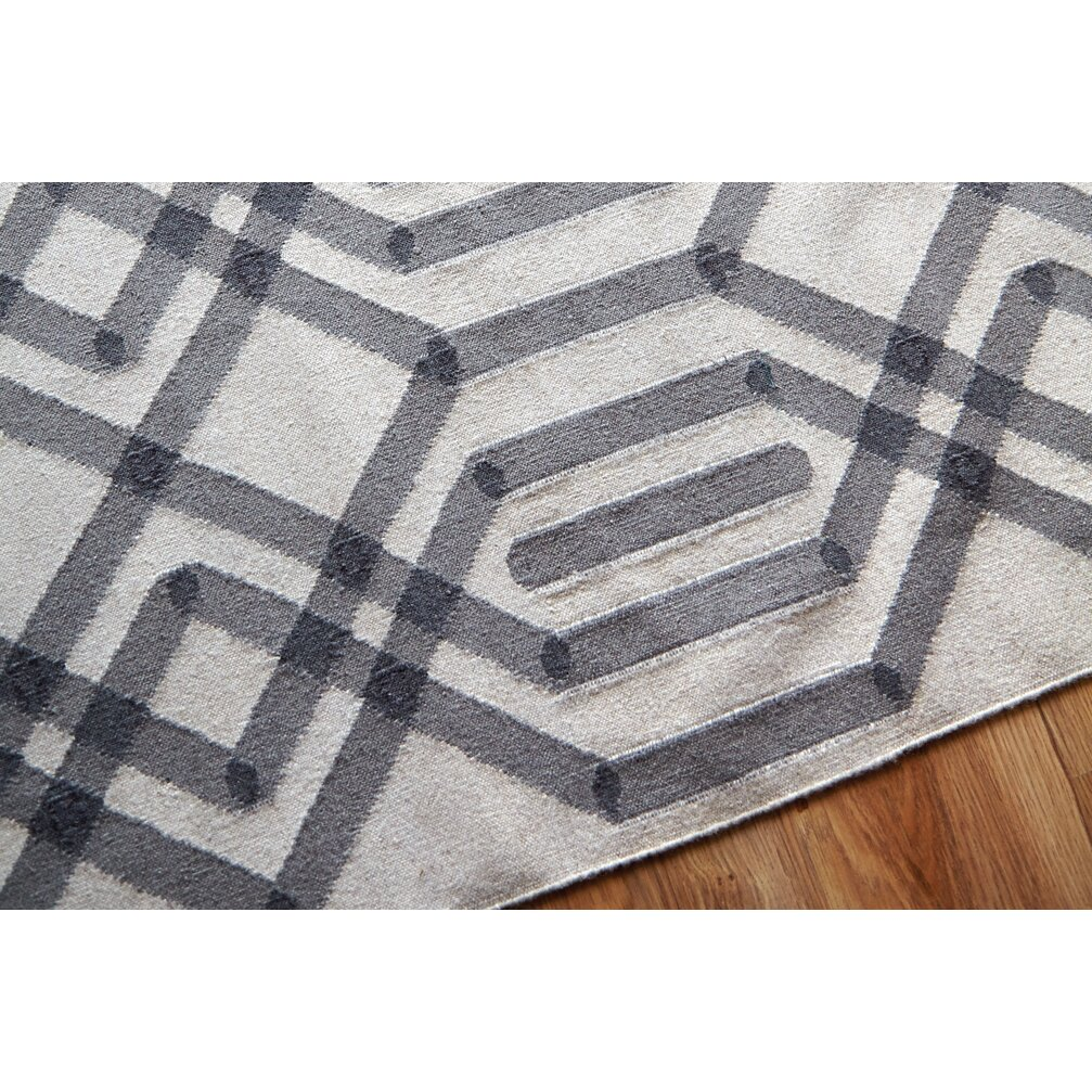 gan rugs killim duna handmade gray area rug wayfair. Black Bedroom Furniture Sets. Home Design Ideas