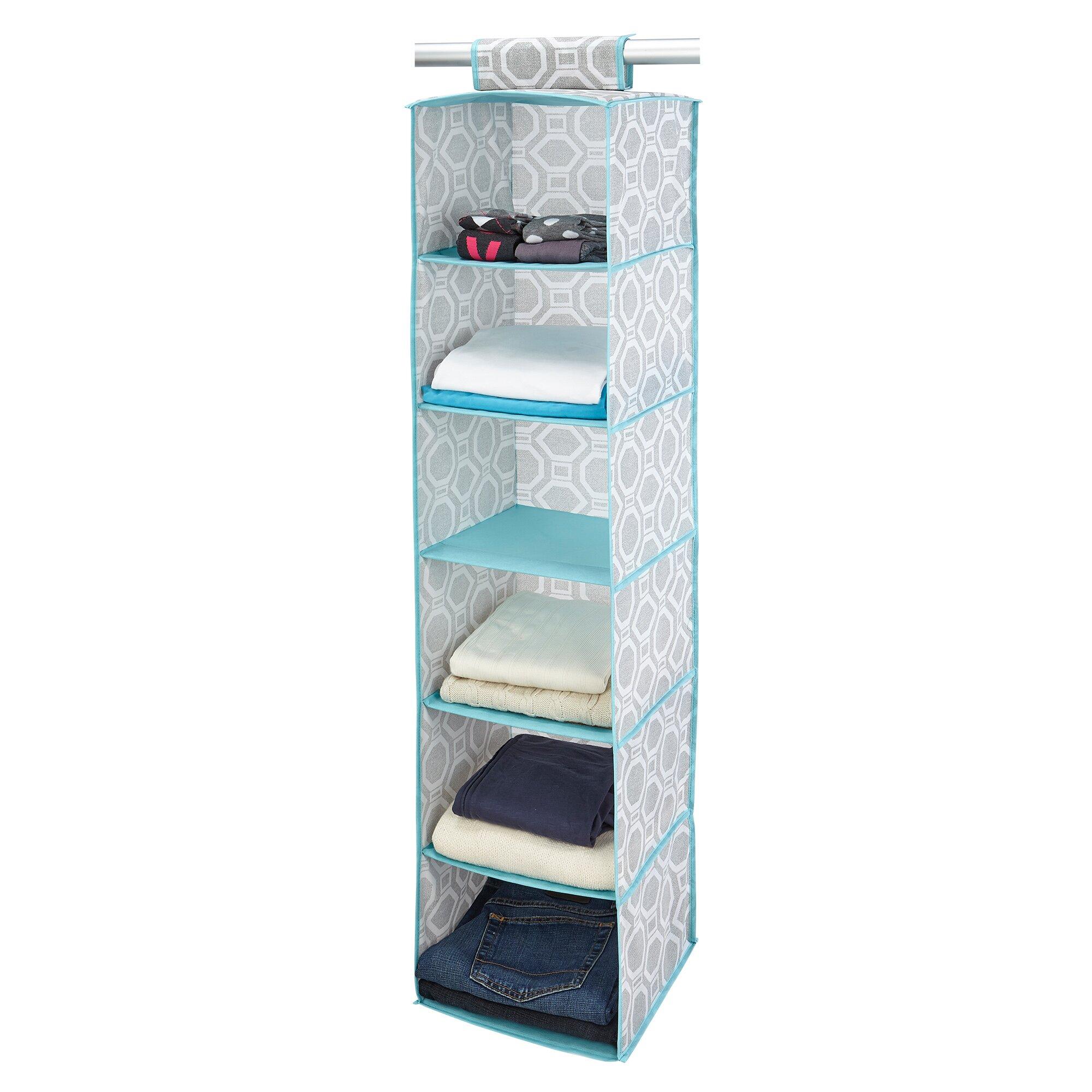 closet candie dove 6 shelf hanging organizer reviews. Black Bedroom Furniture Sets. Home Design Ideas