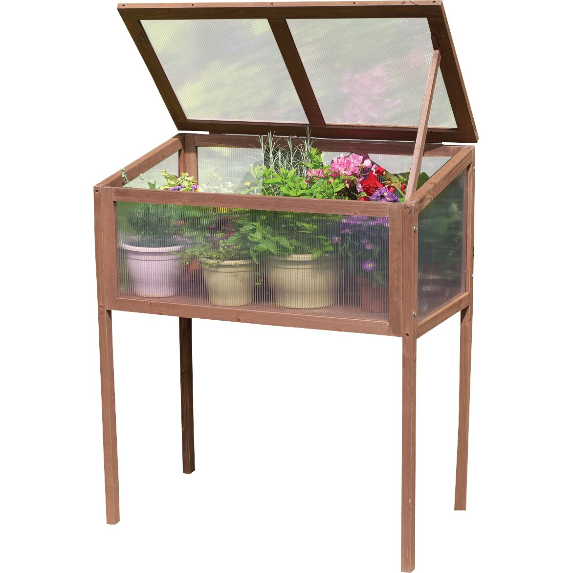 The Gardman 4 Tier Mini Greenhouse - gardensure.com