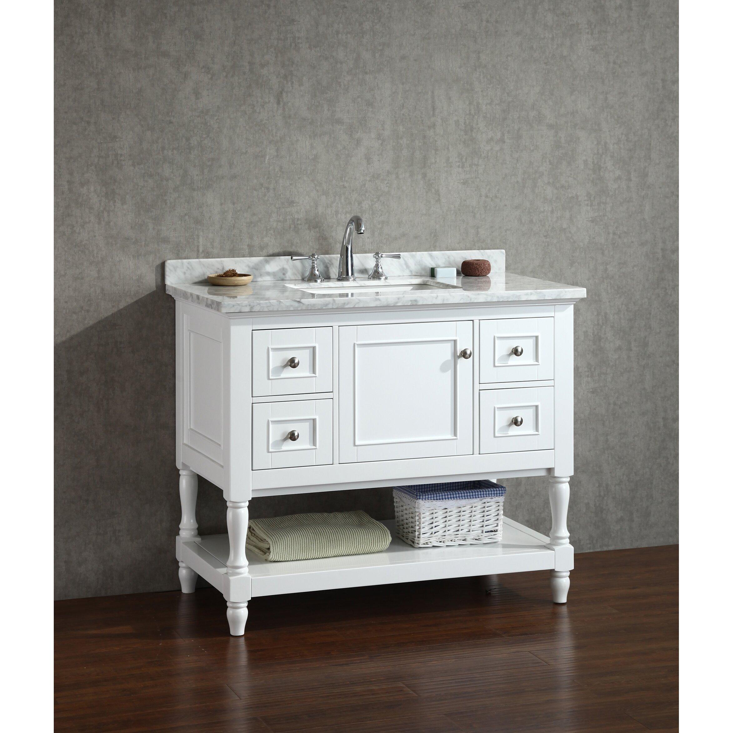 Cape Cod Bathroom Vanity And Mirror White 42 Shop Ari Kitchen and ...