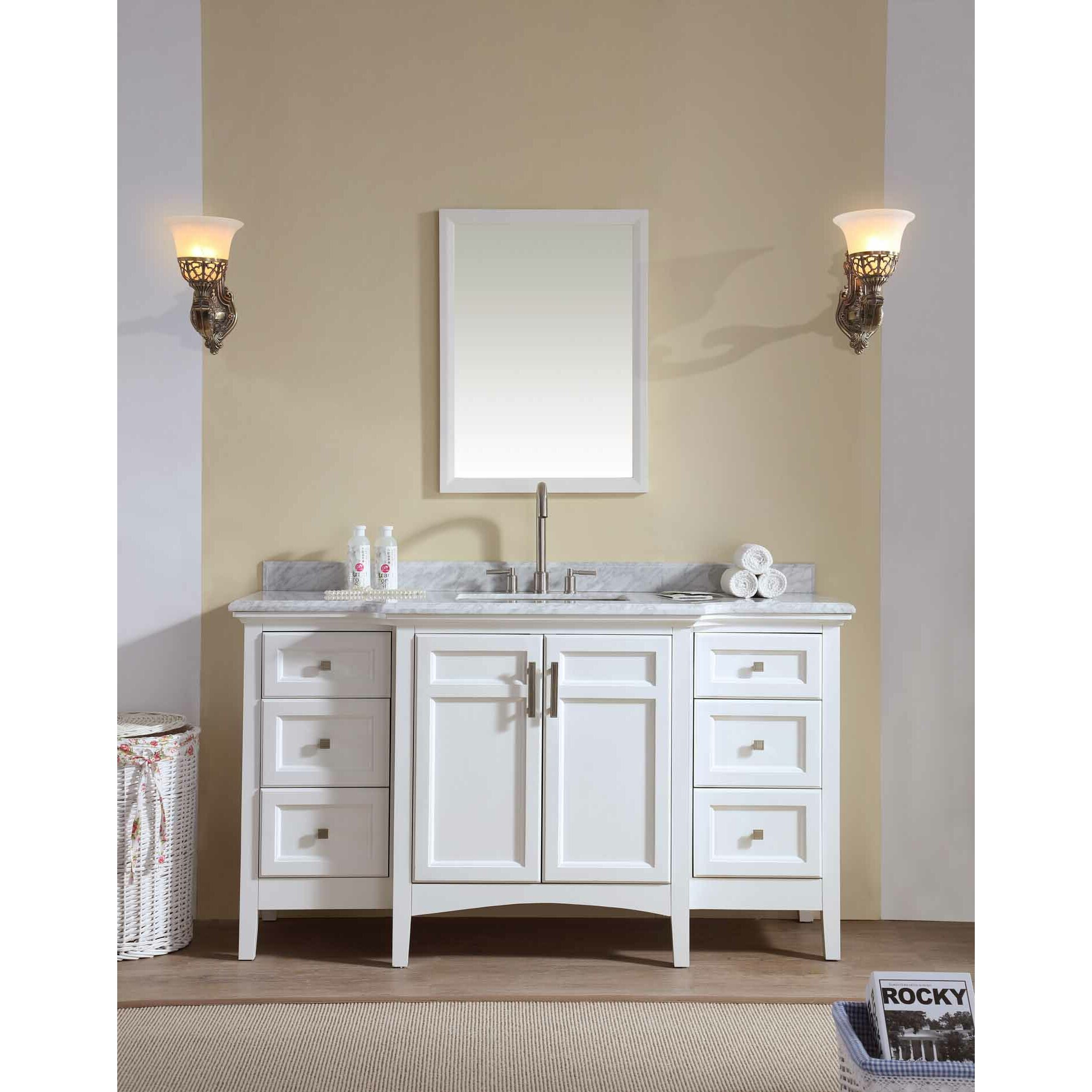 Ari kitchen bath luz 60 single bathroom vanity set for Bathroom vanity sets for sale