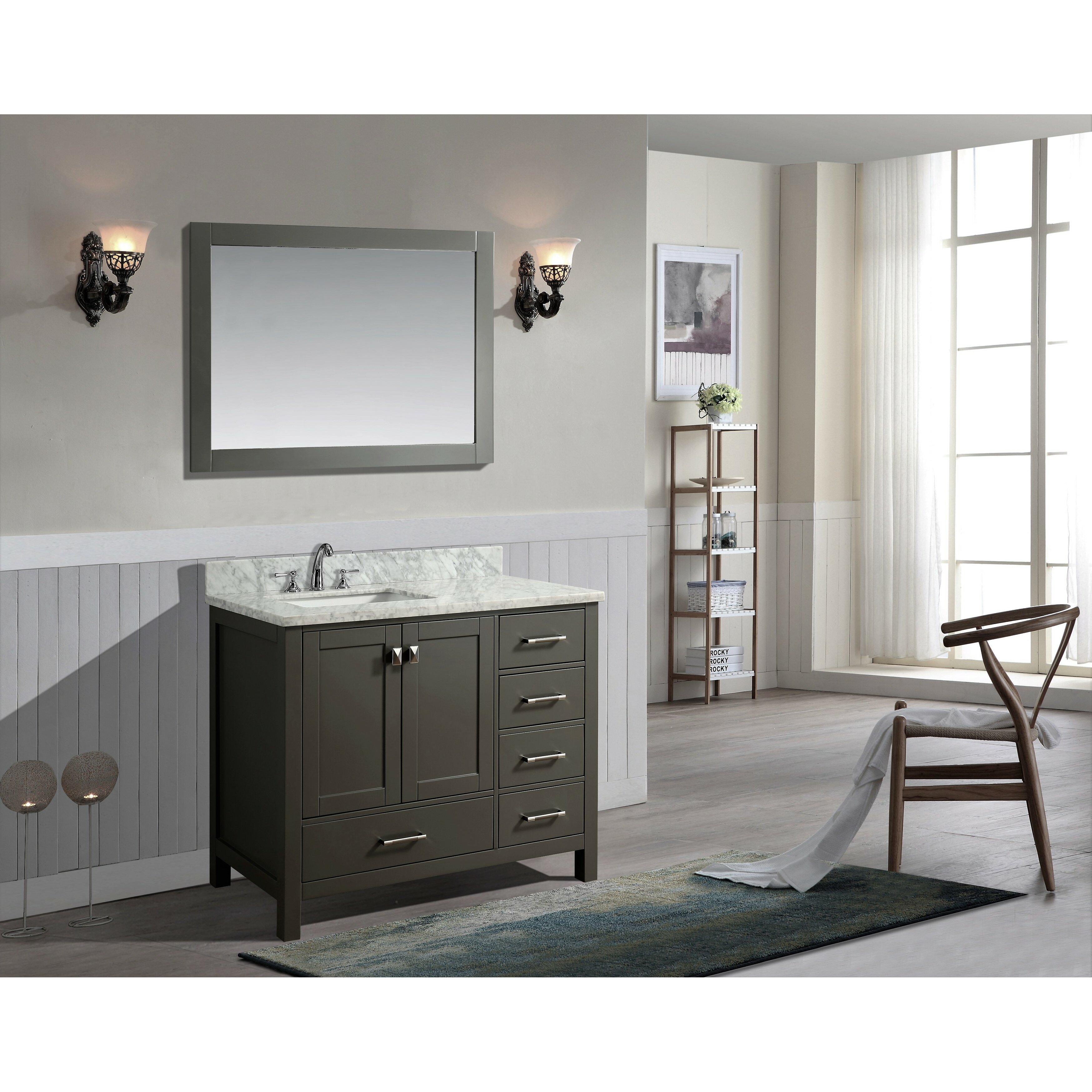 ari kitchen bath bella 42 single bathroom vanity set with mirror reviews wayfair