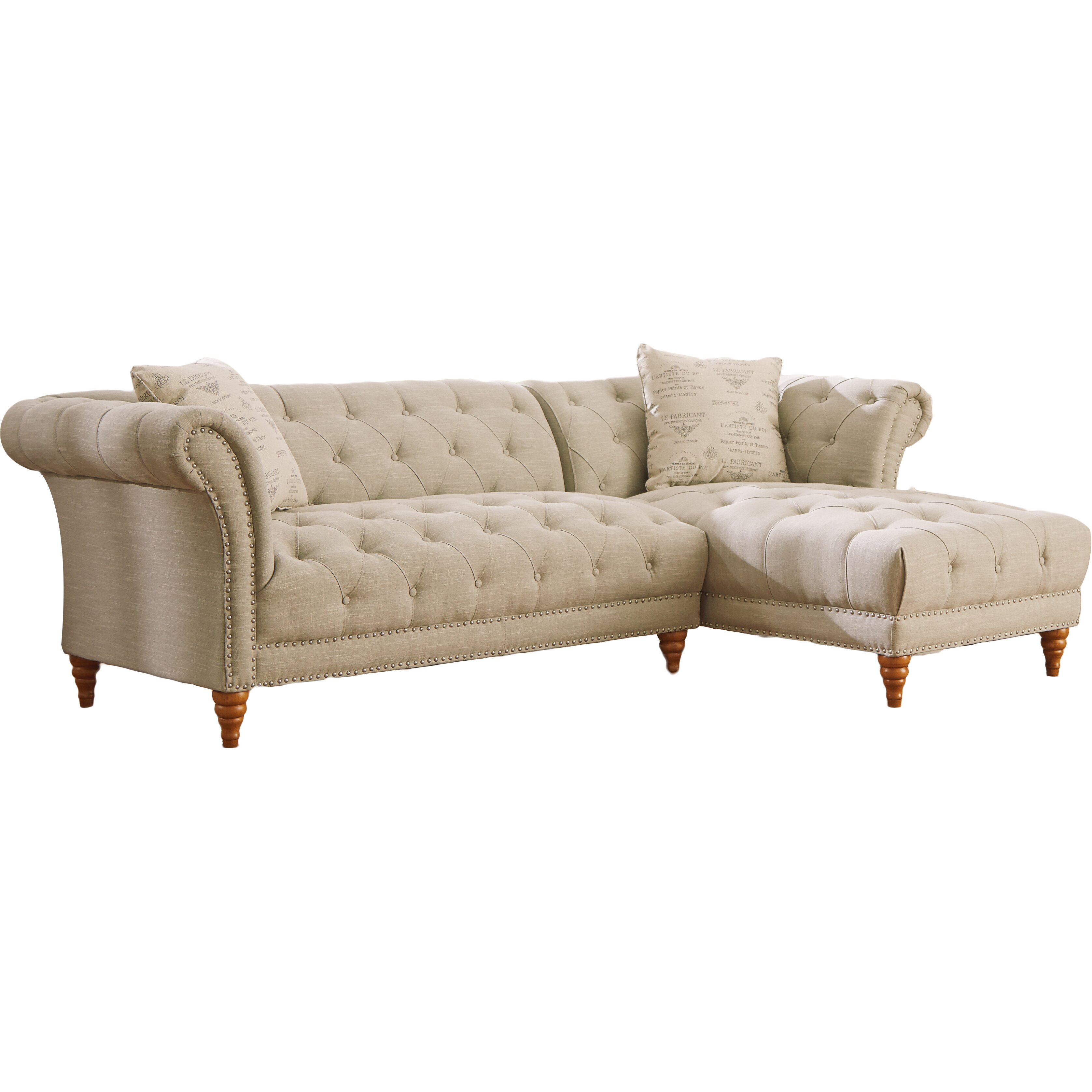 Lark Manor Bluet Right Hand Facing Sectional Reviews