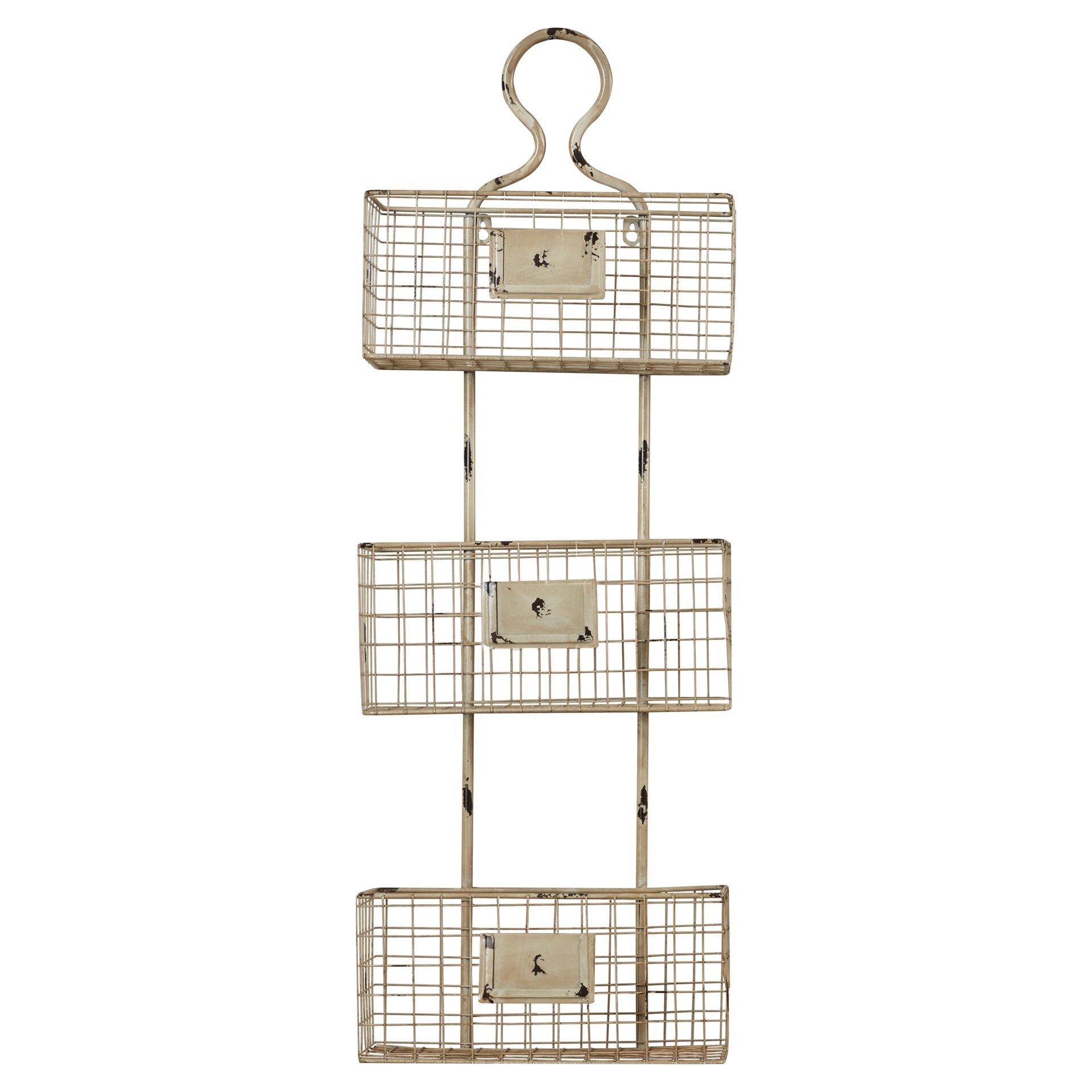 Lark manor 3 tier wire basket wall shelf amp reviews wayfair