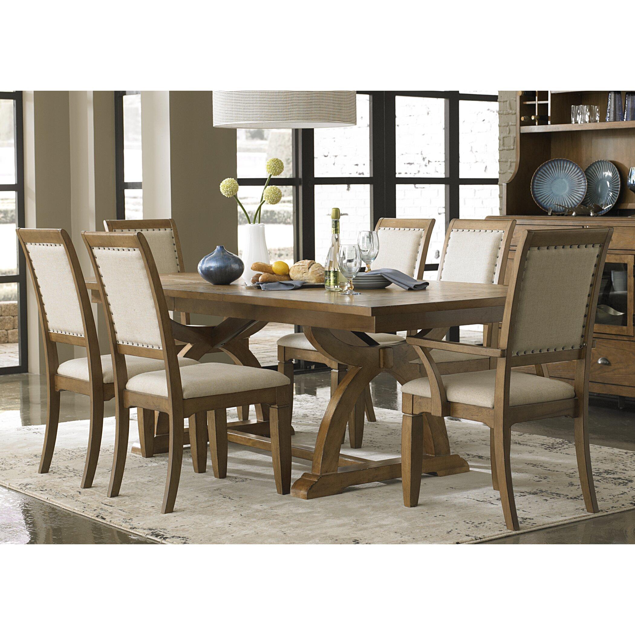 Lark manor 9 piece dining set reviews wayfair for 9 piece dining room furniture