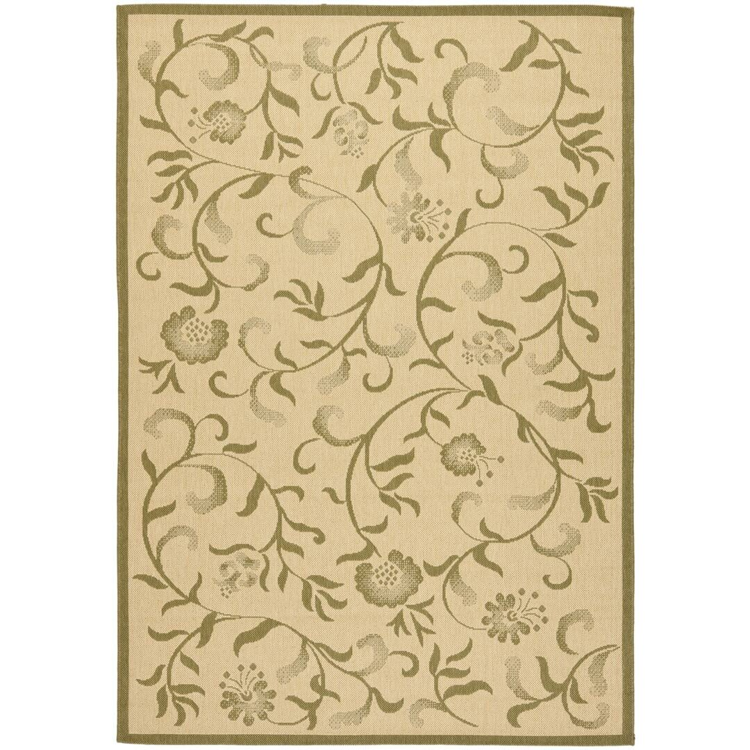 Lark manor le chesnay cream green area rug reviews for Green and cream rugs