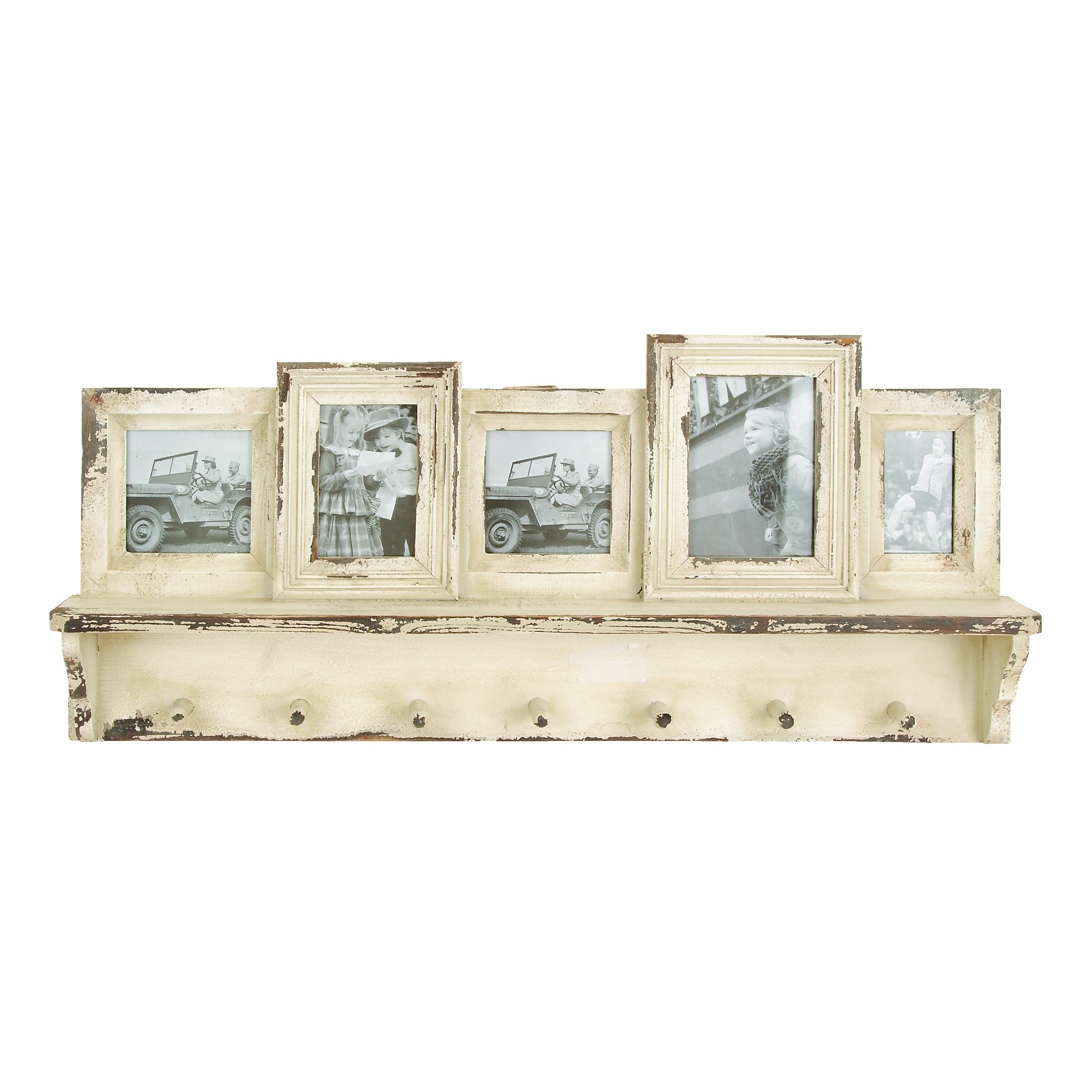 Lark Manor Wooden Wall Picture Frame with Coat Rack