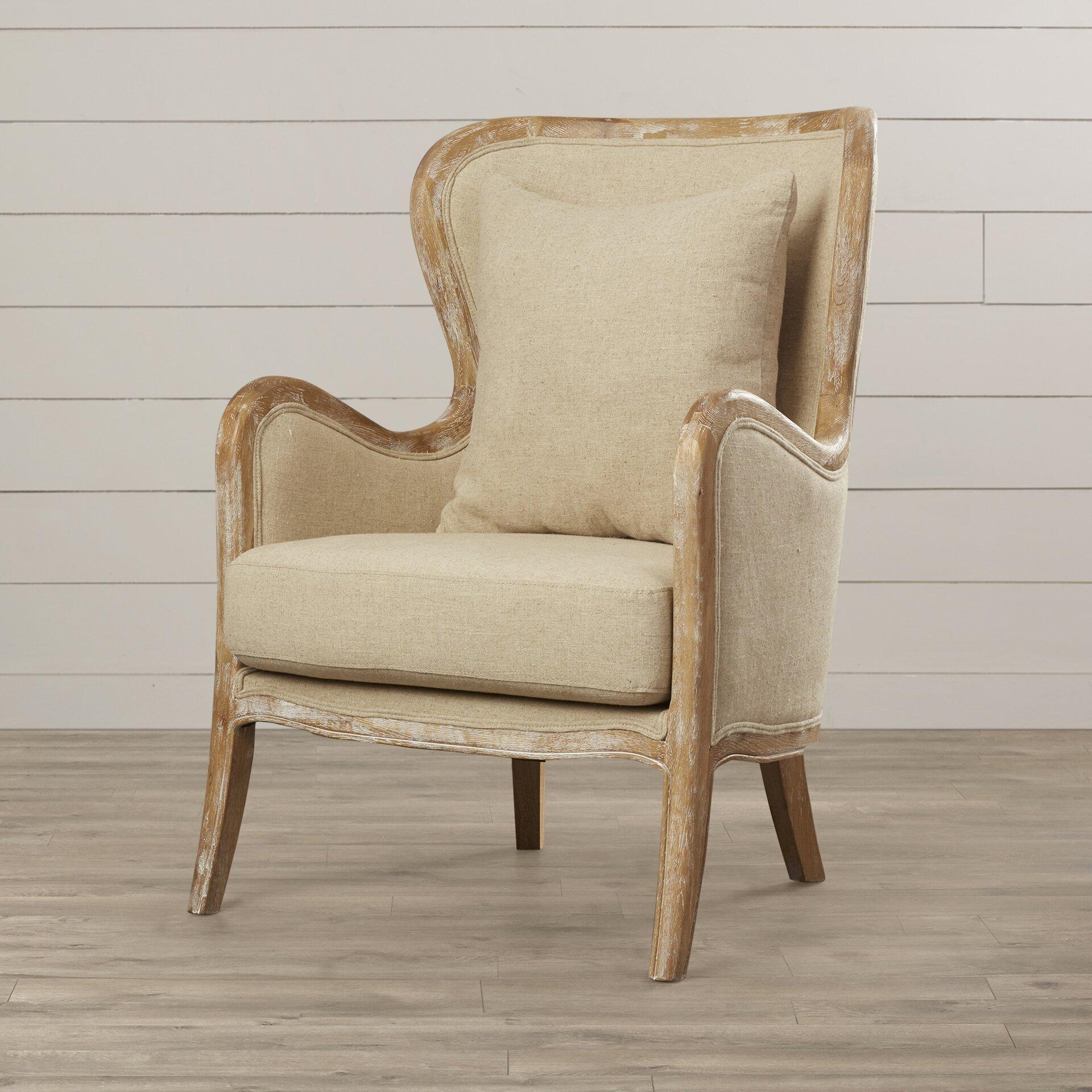 lark manor lilya accent wingback chair reviews wayfair