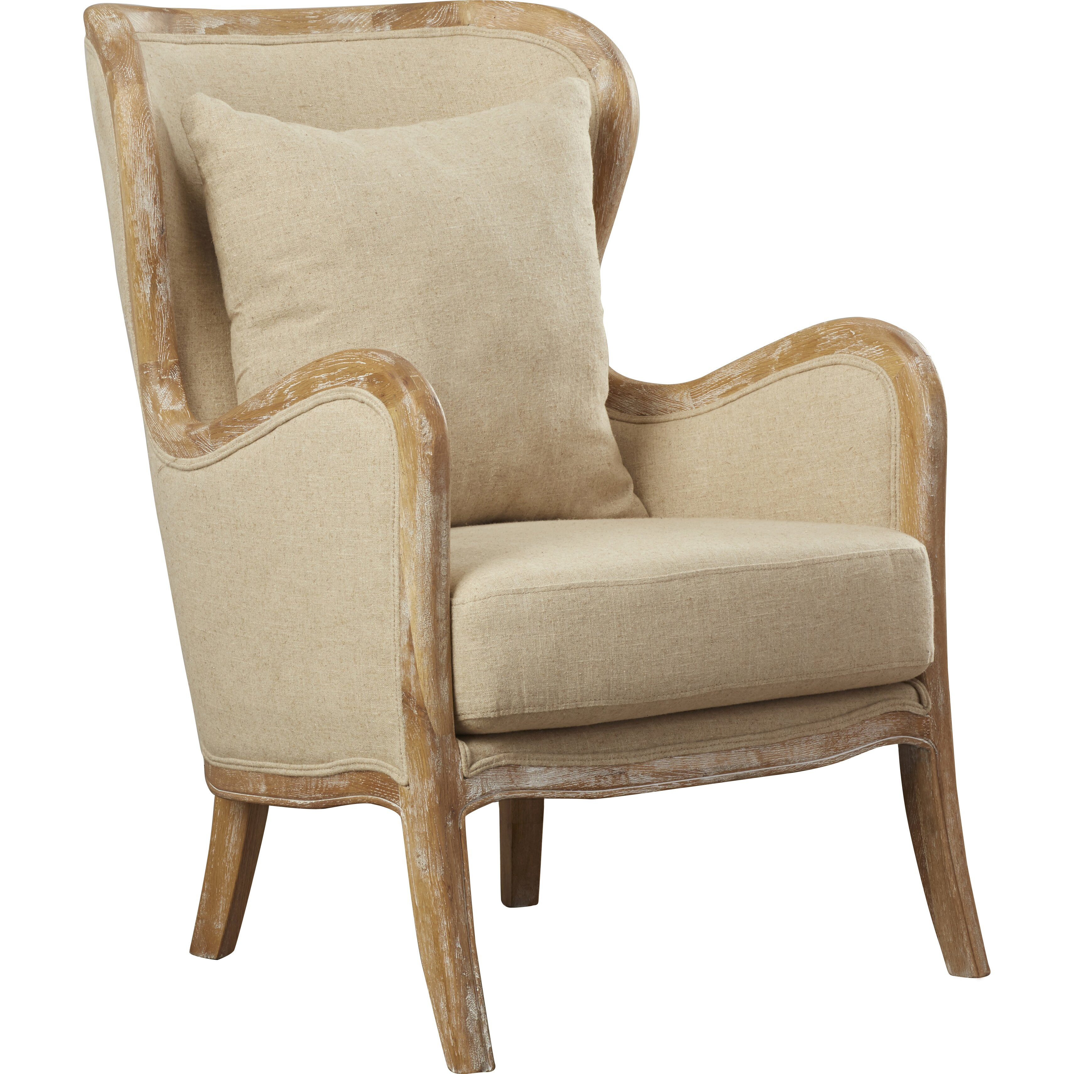 Lark manor lilya accent wingback chair reviews wayfair for Wingback chair